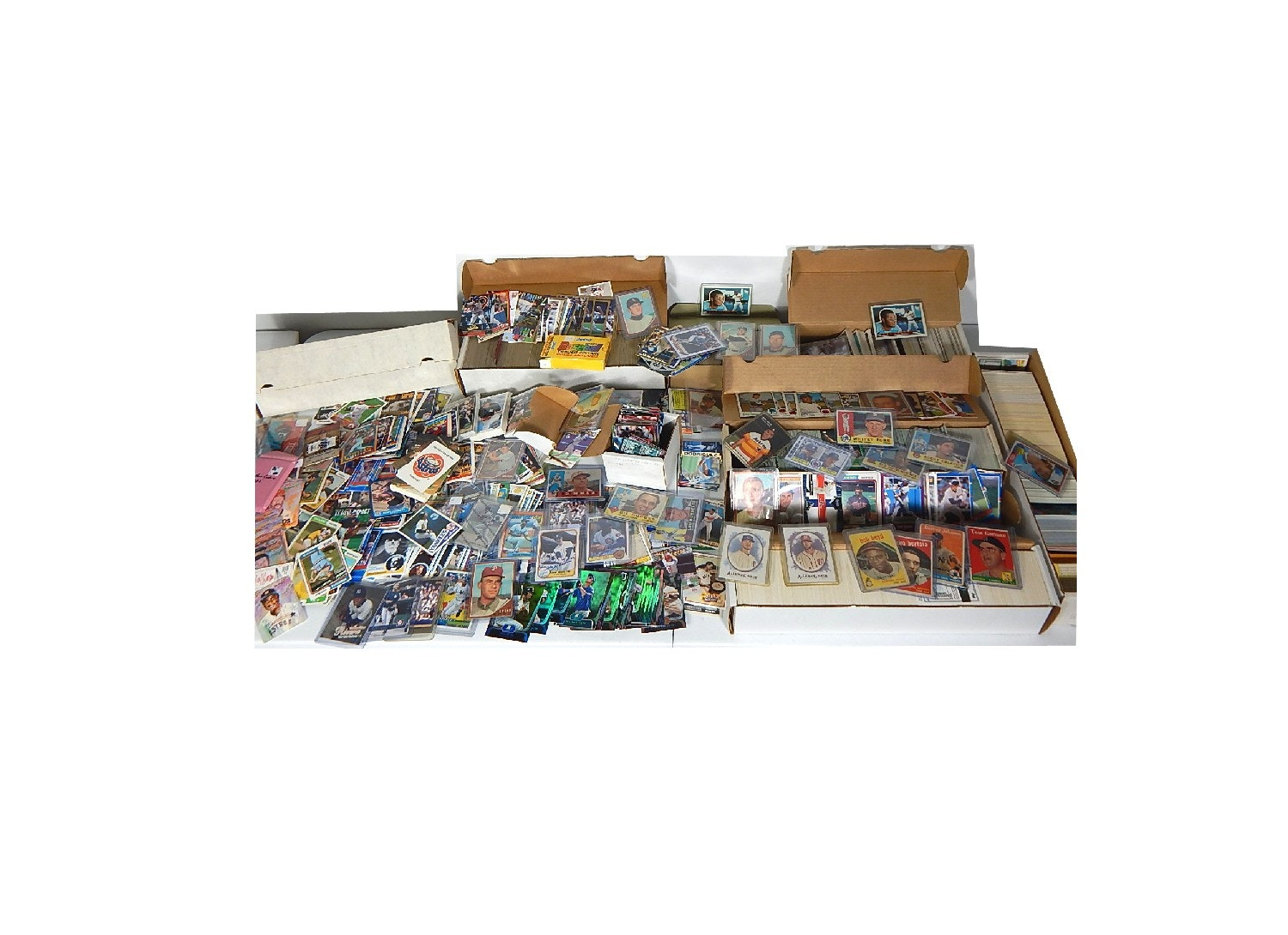 Assortment of Baseball Cards from 1950s to 1990s