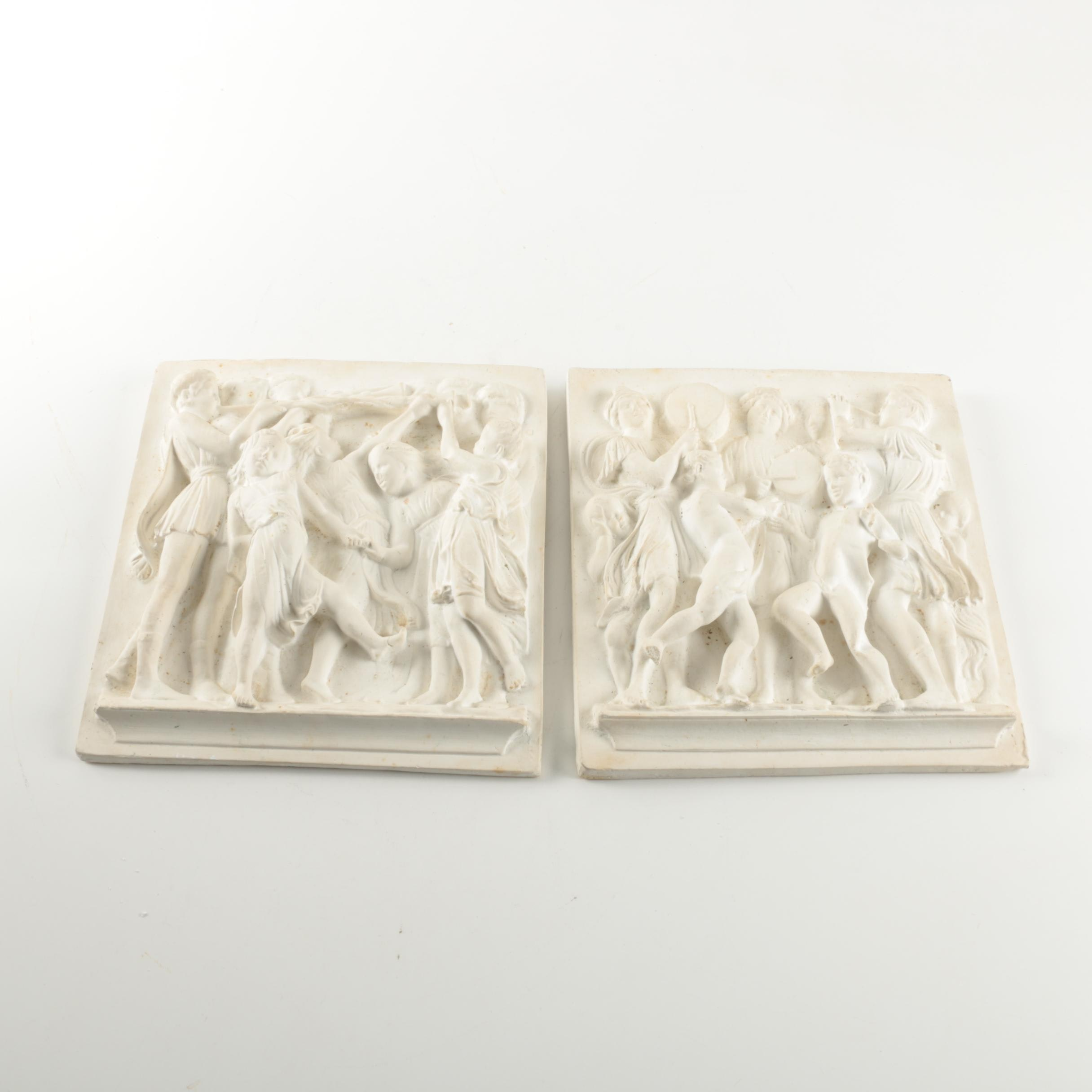 Two-Piece Relief Ceramic Wall Hangings