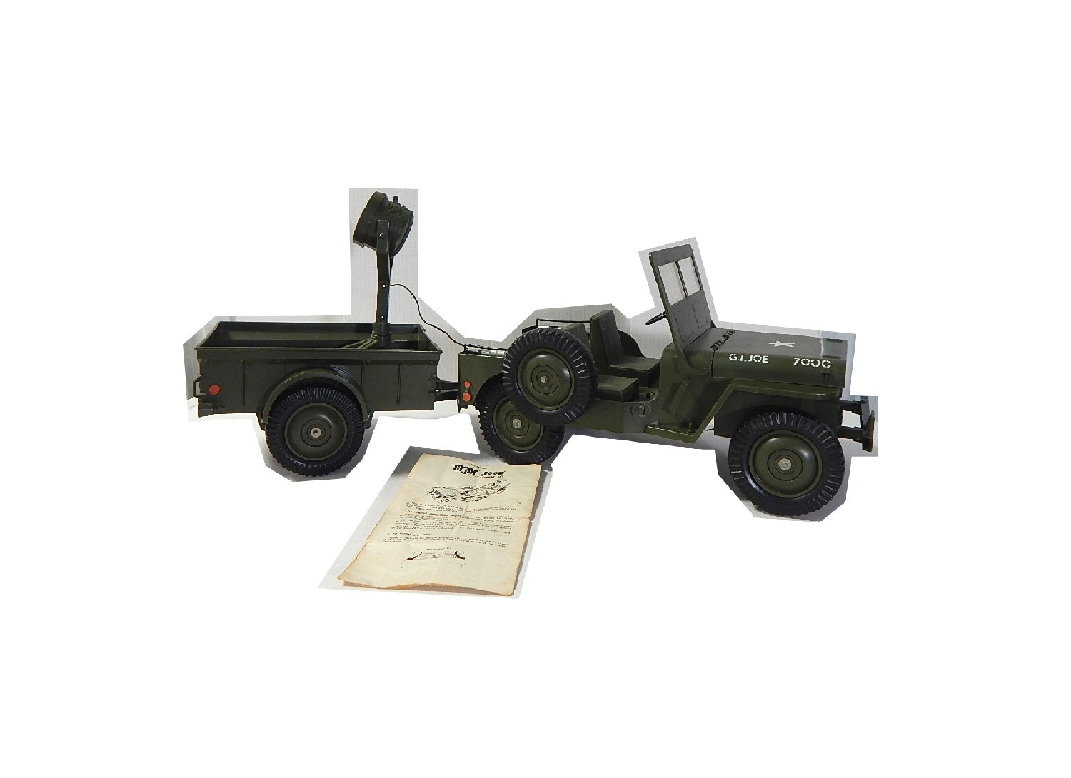 1960s G.I. Joe Jeep 7000 with Tractor and Spot Light