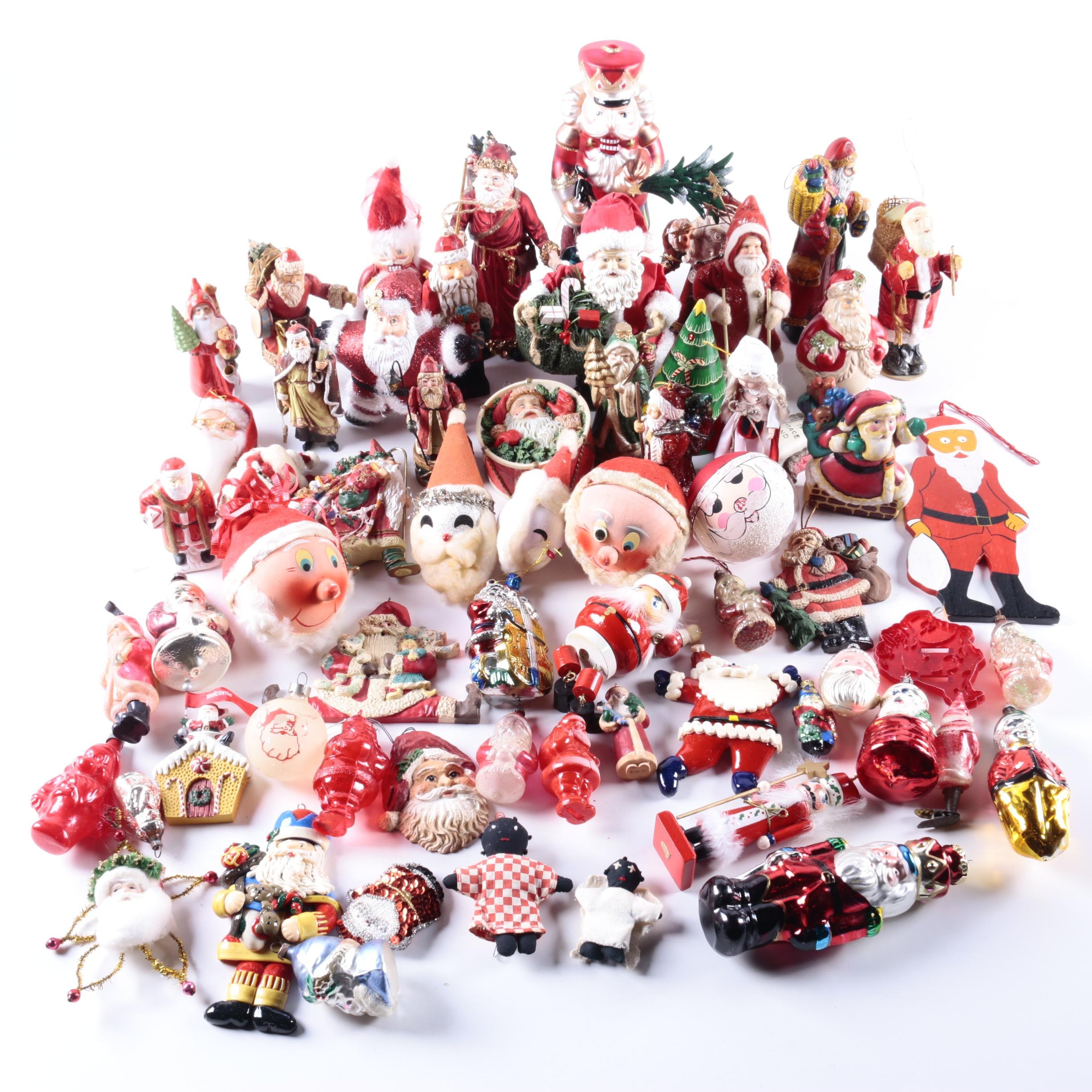 Vintage Santa Claus Christmas Ornaments and Figurines