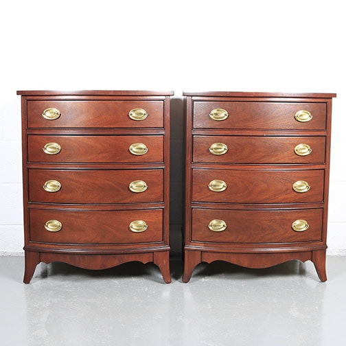 Pair of Hepplewhite Style Nightstands by Thomasville