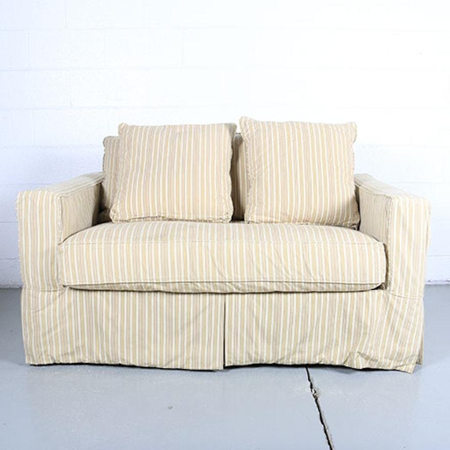 Wondrous Striped Sleeper Sofa By Arhaus Furniture Customarchery Wood Chair Design Ideas Customarcherynet