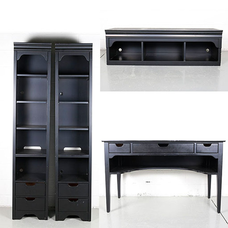Young America Desk And Bookcases By Stanley Furniture Ebth