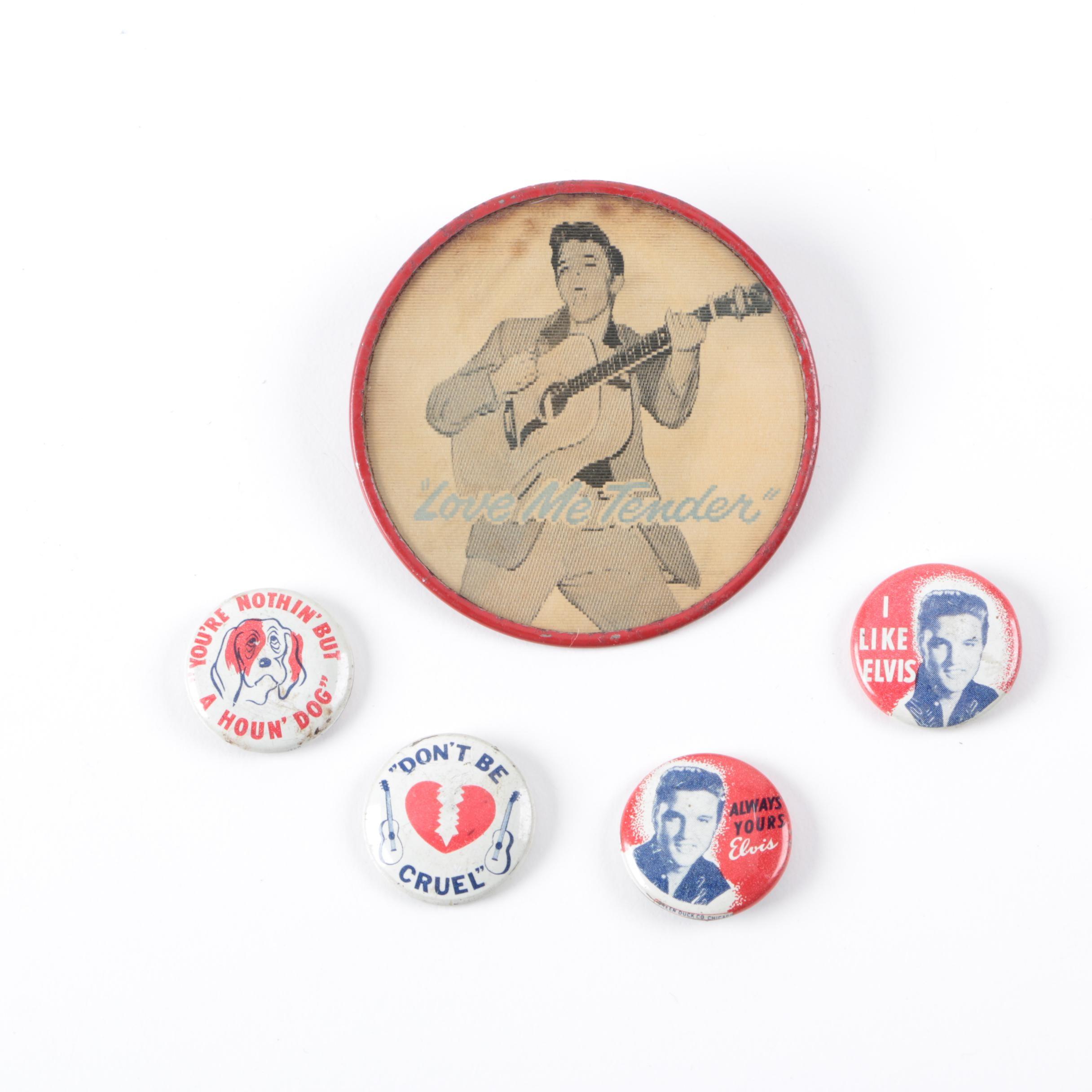 Elvis Presley Button Memorabilia