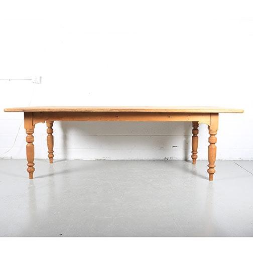 Antique English Pine Farm Table
