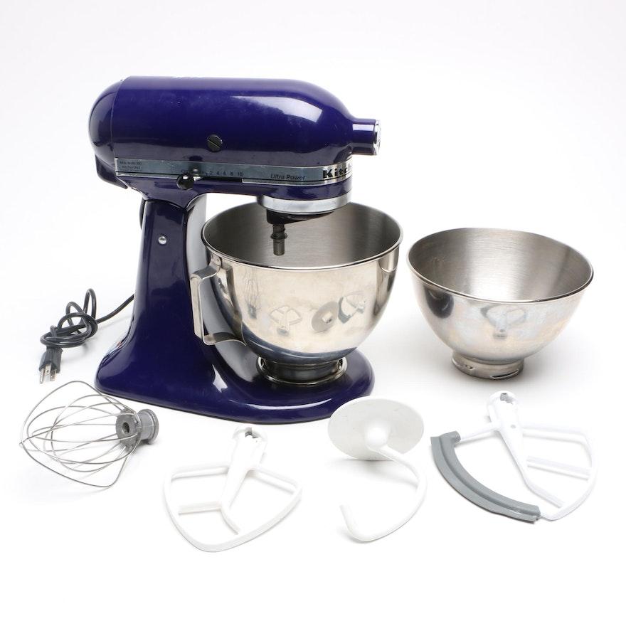 KitchenAid Cobalt Blue Stand Mixer and Accessories