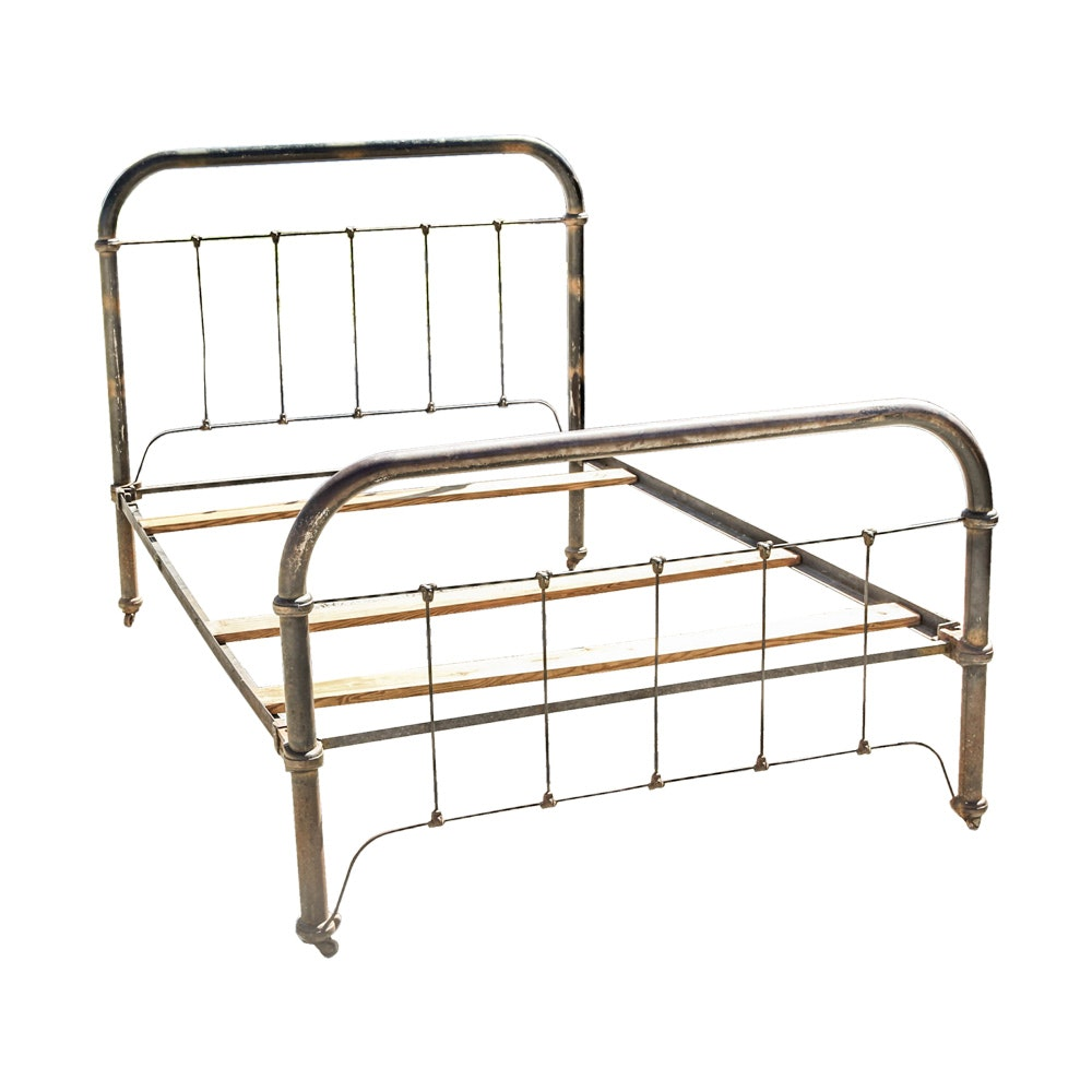 vintage wrought iron full size bed