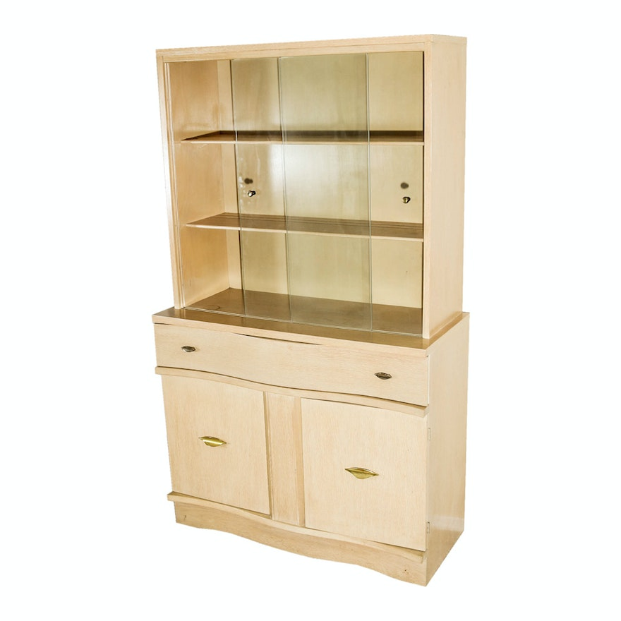 Vintage Mid Century Modern China Cabinet By Garrison Furniture Company