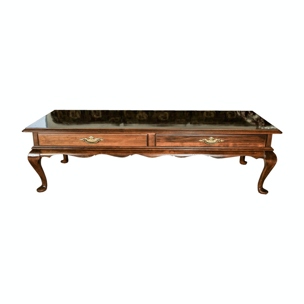 Vintage Chippendale Style Coffee Table by Ethan Allen