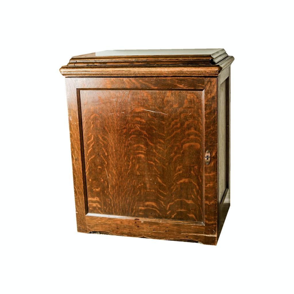Quarter-Sawn Oak Sewing Machine Cabinet