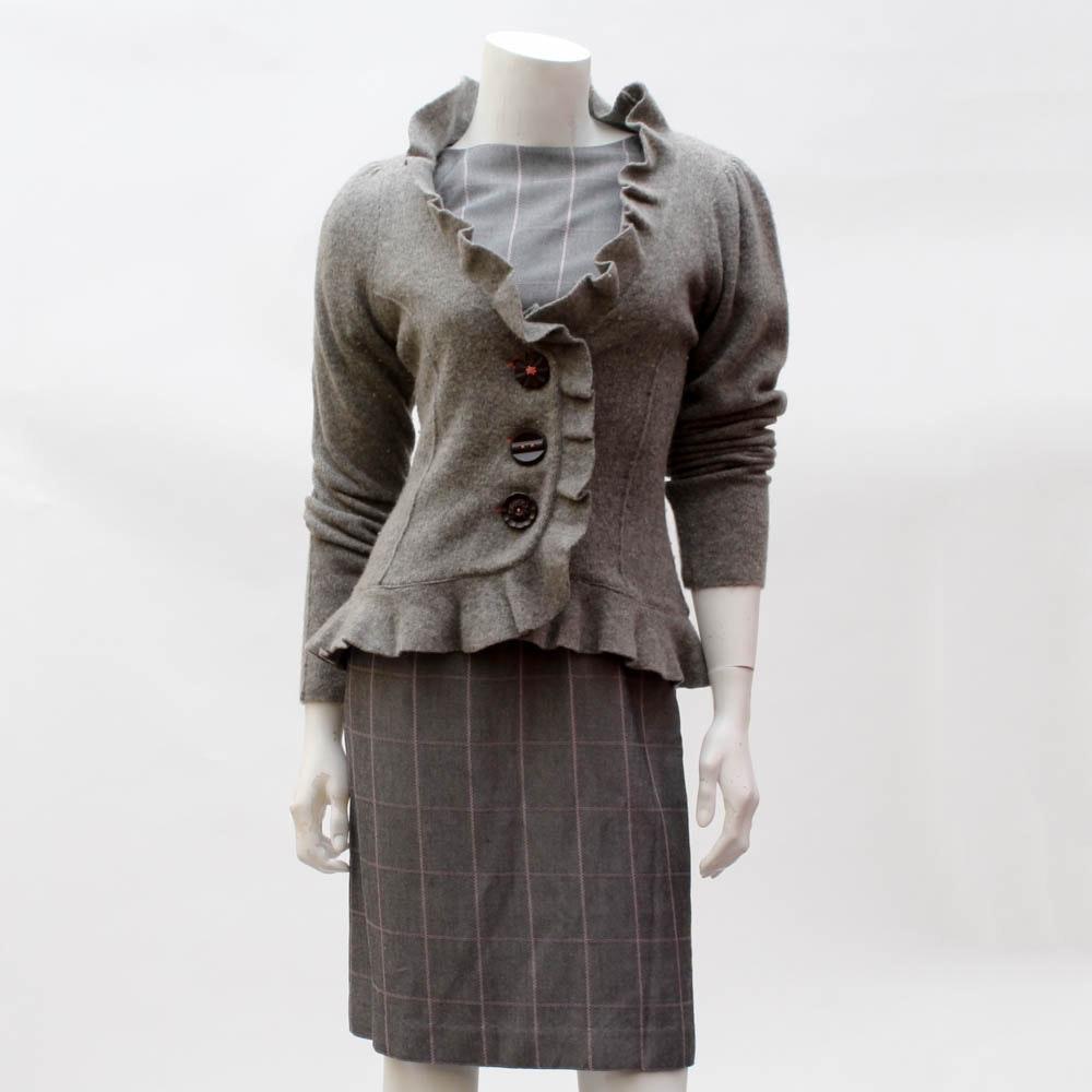 """""""Kasper A.S.L."""" Dress and """"Cantonniev"""" Sweater"""