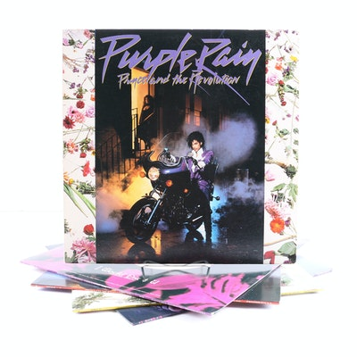 "Prince ""Purple Rain"" LP with Poster and Related 12"" Singles"