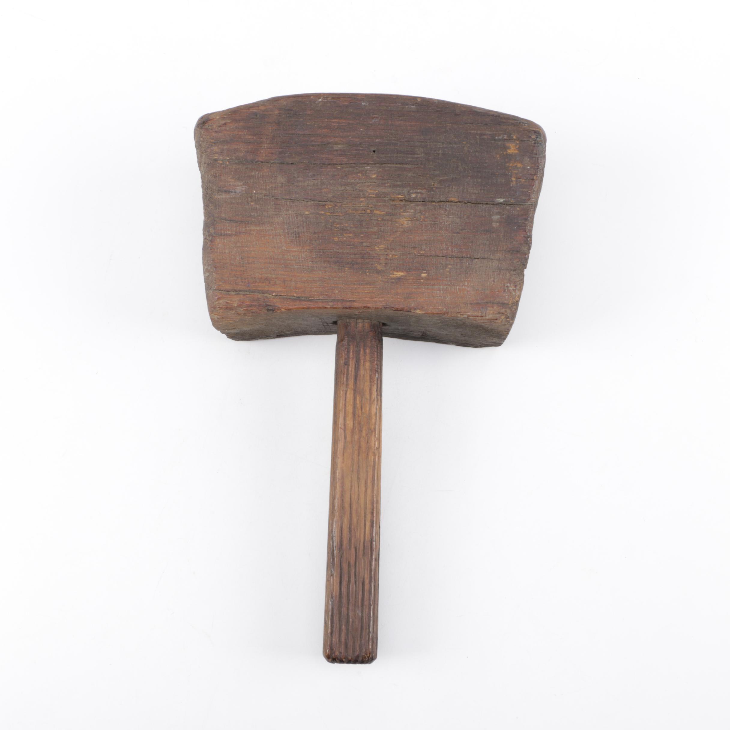 Antique Wooden Mallet