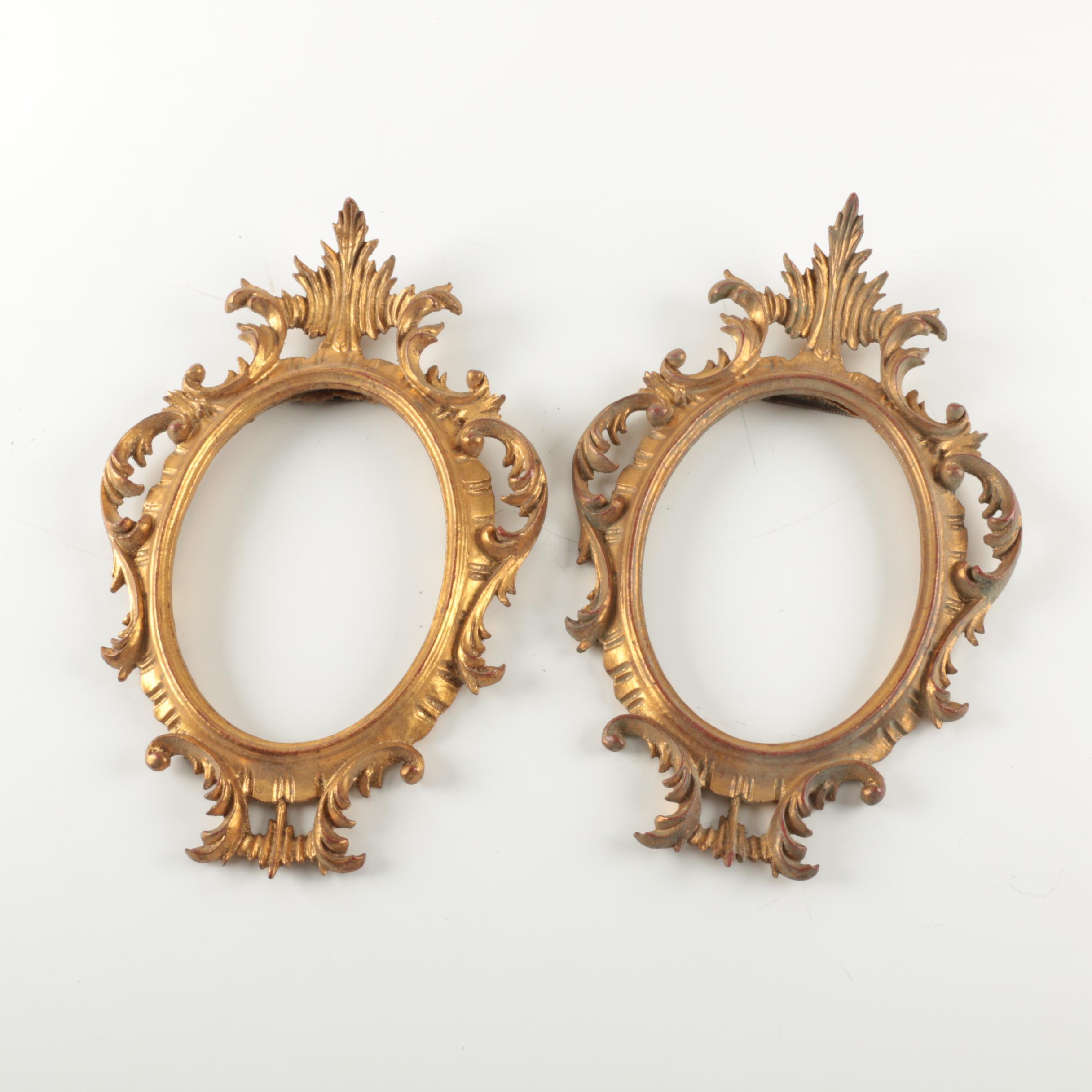 Gold Tone Wooden Frames