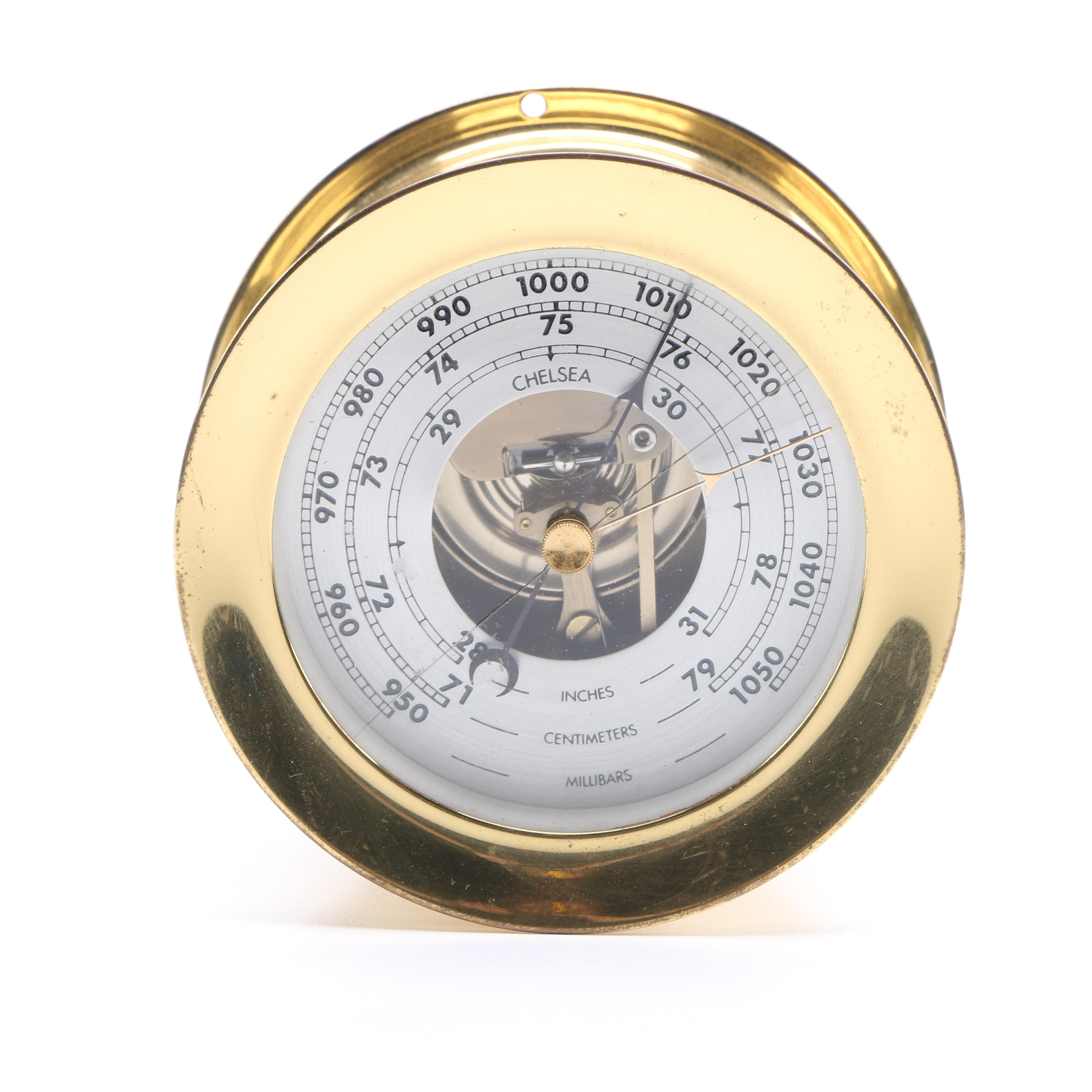 Brass Chelsea Ship's Bell Barometer