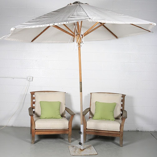 Pair of Kingsley Bate Ltd. Teak Outdoor Armchairs