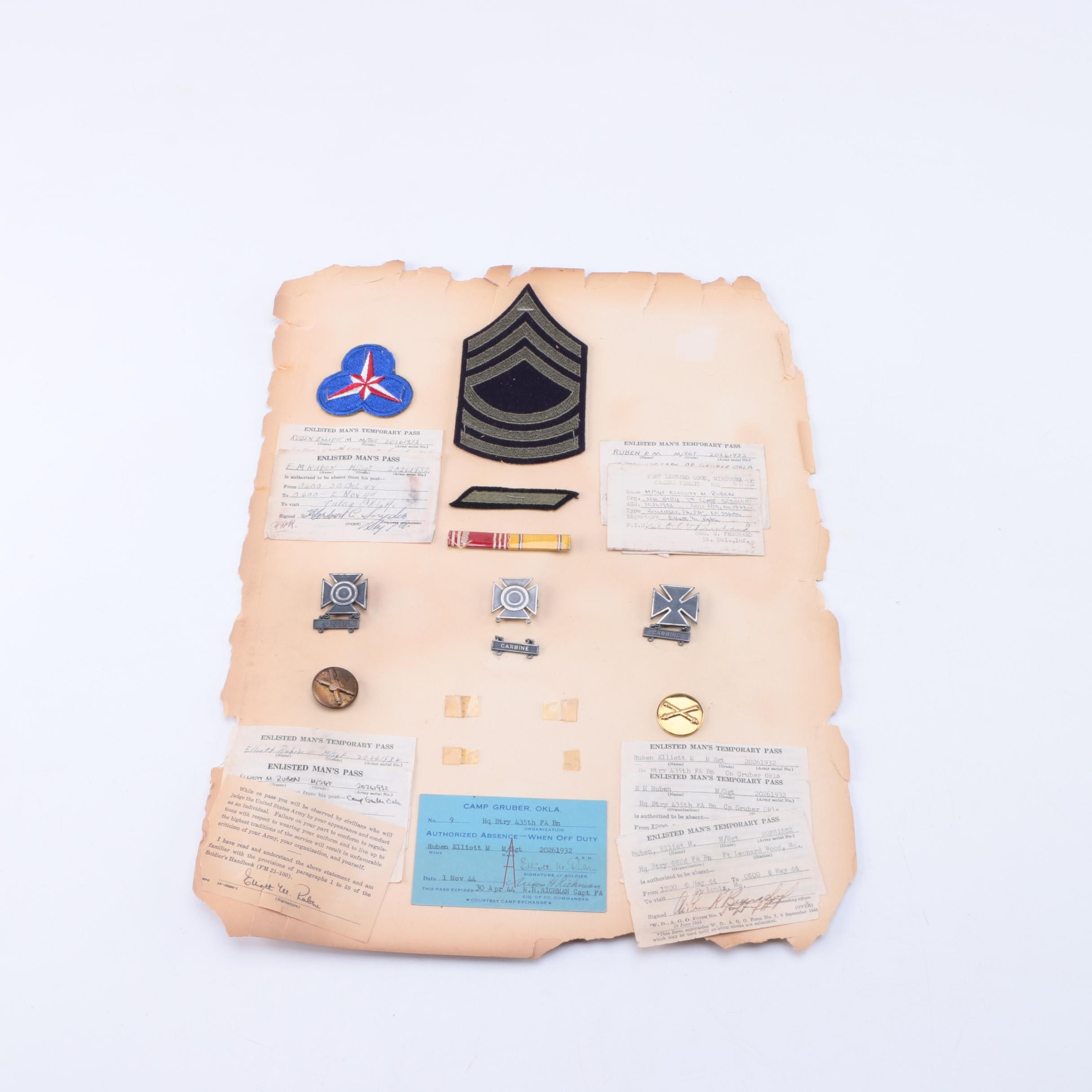 Collection of Military Patches and Ephemera