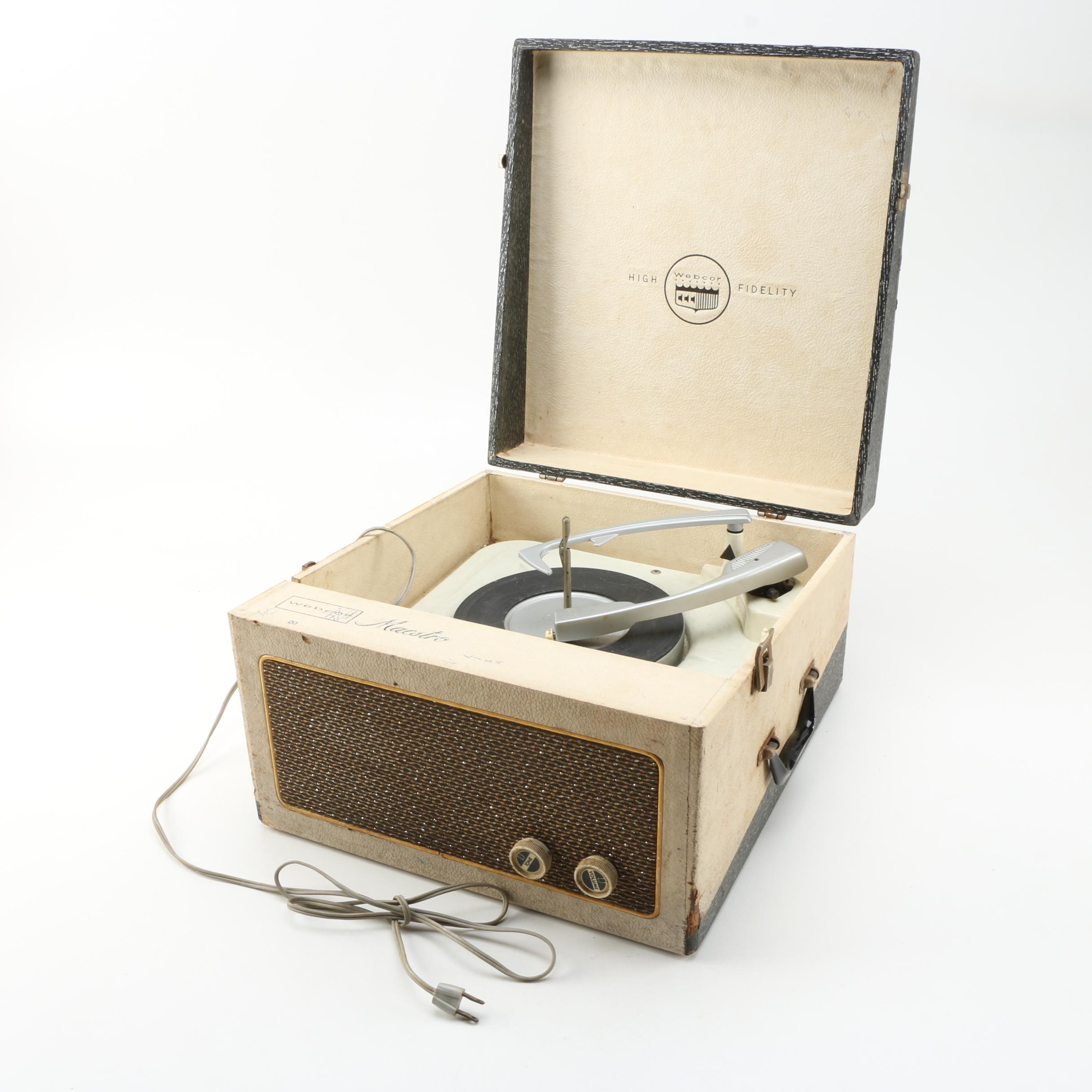 Vintage Webcor High Fidelity Record Player