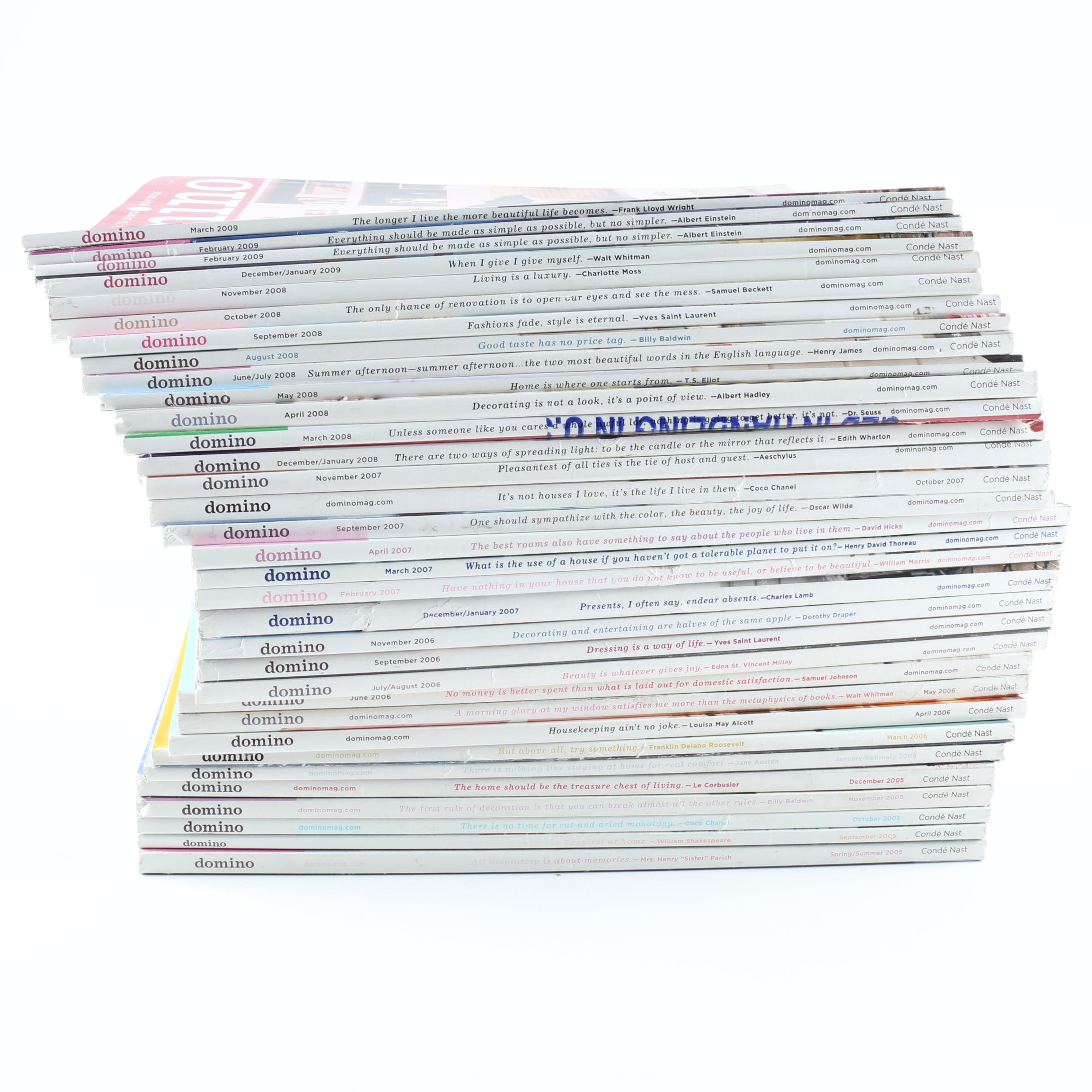 """Collection of """"Domino"""" Magazines"""