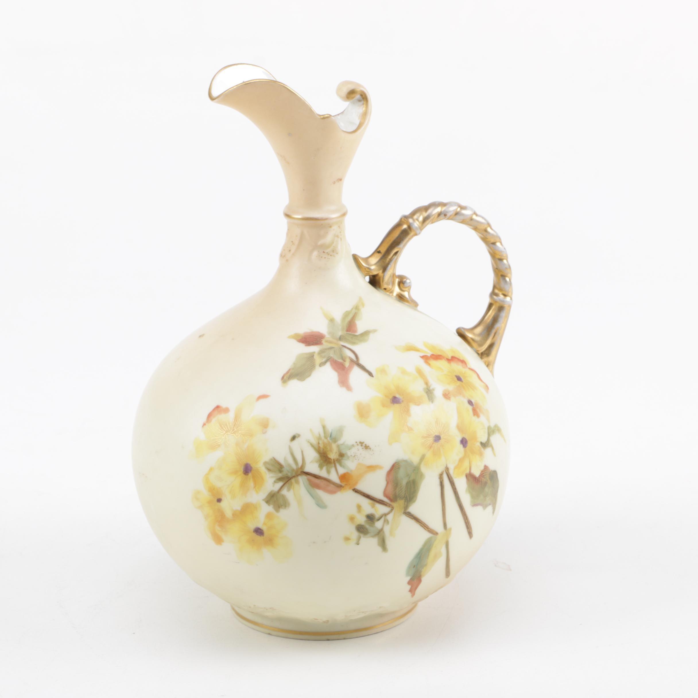 Antique Rudolstadt Porcelain Pitcher