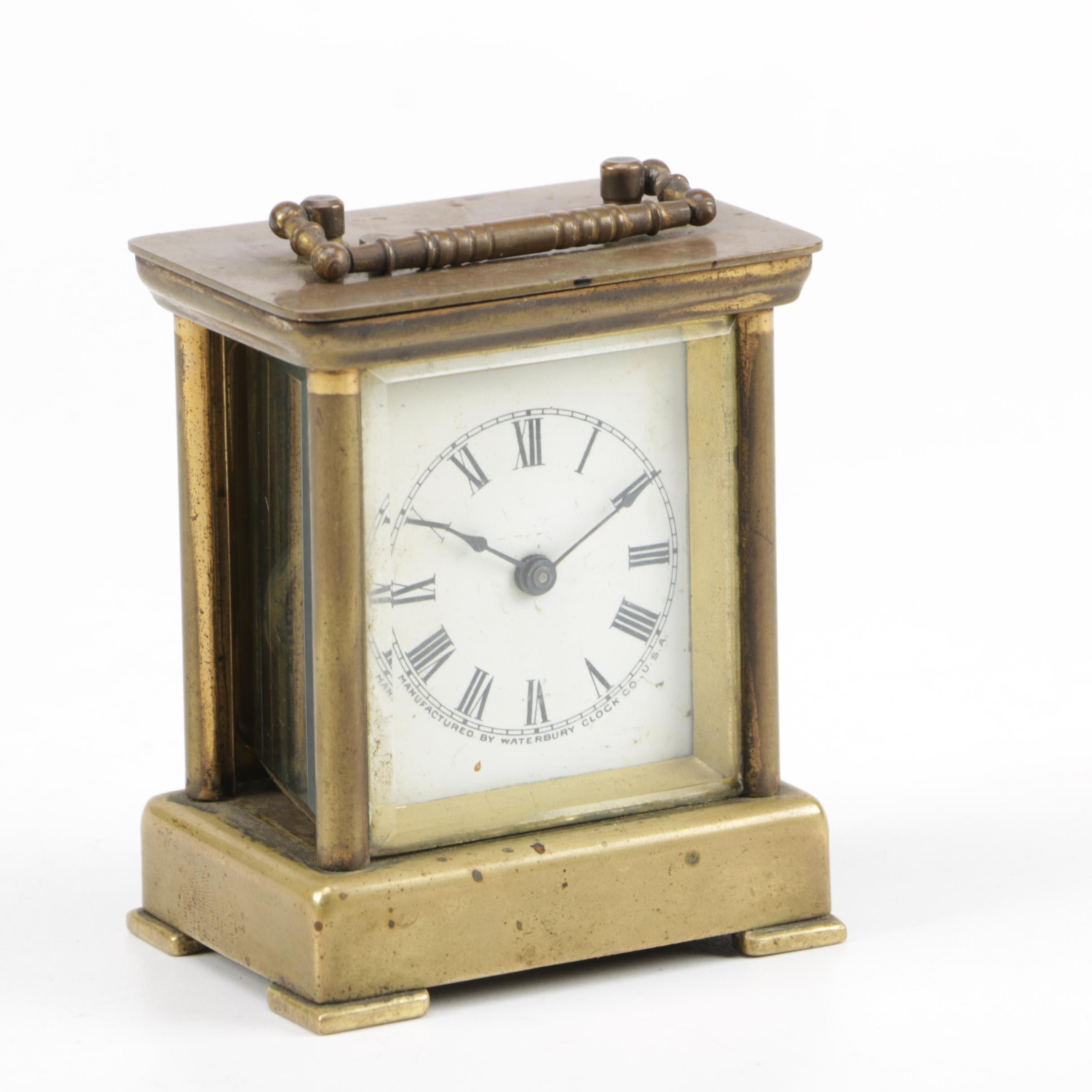 Vintage Waterbury Carriage Alarm Clock