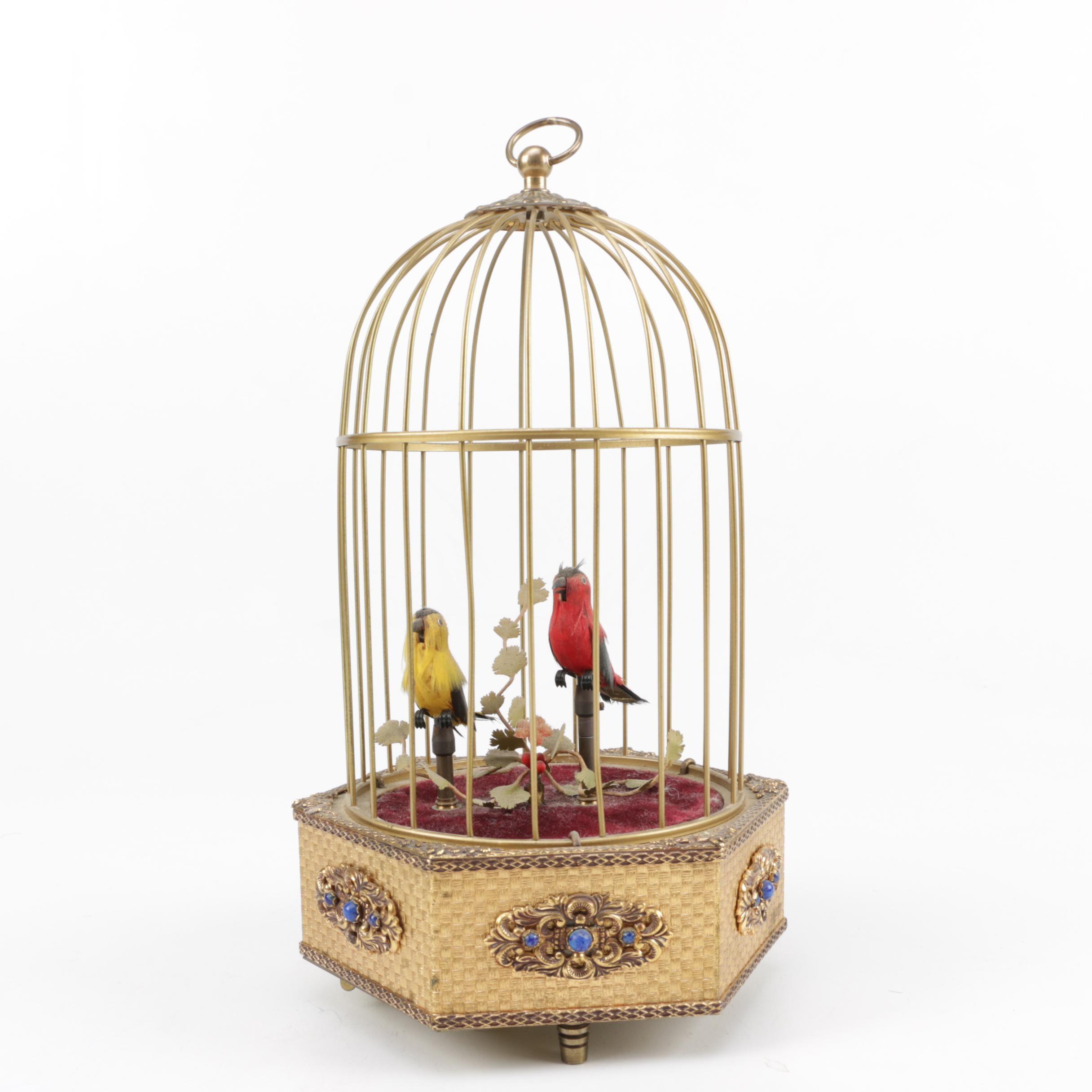 German Mechanical Birds in Cage