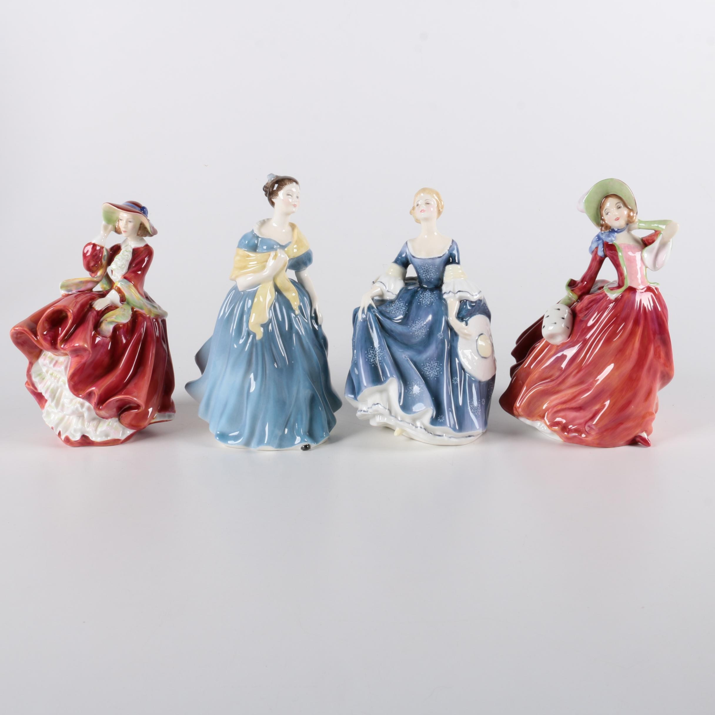 Vintage Royal Doulton Female Figurines
