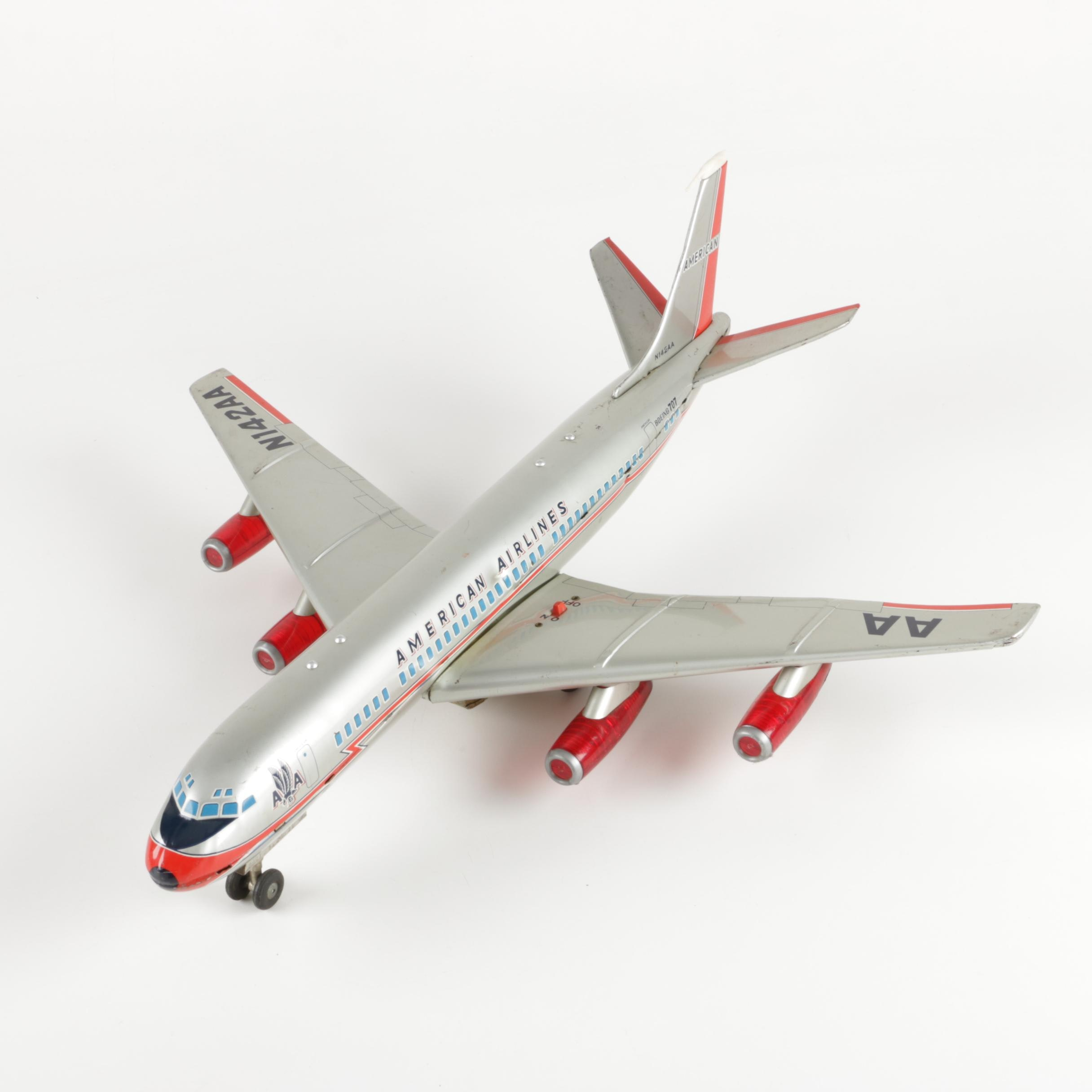 Japanese Cragstan American Airlines Toy Airplane