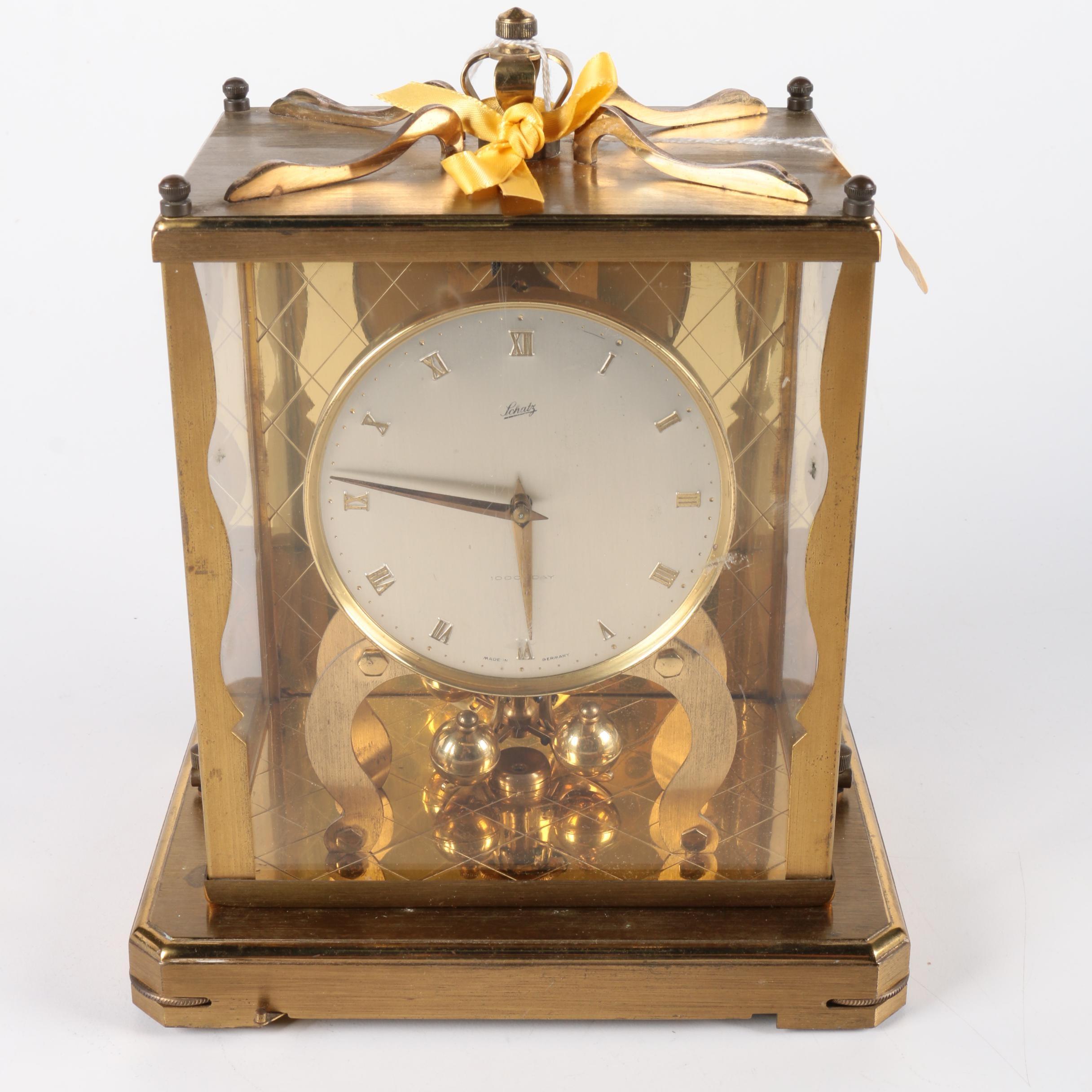 Schatz 1000 Day Brass Mantle Clock
