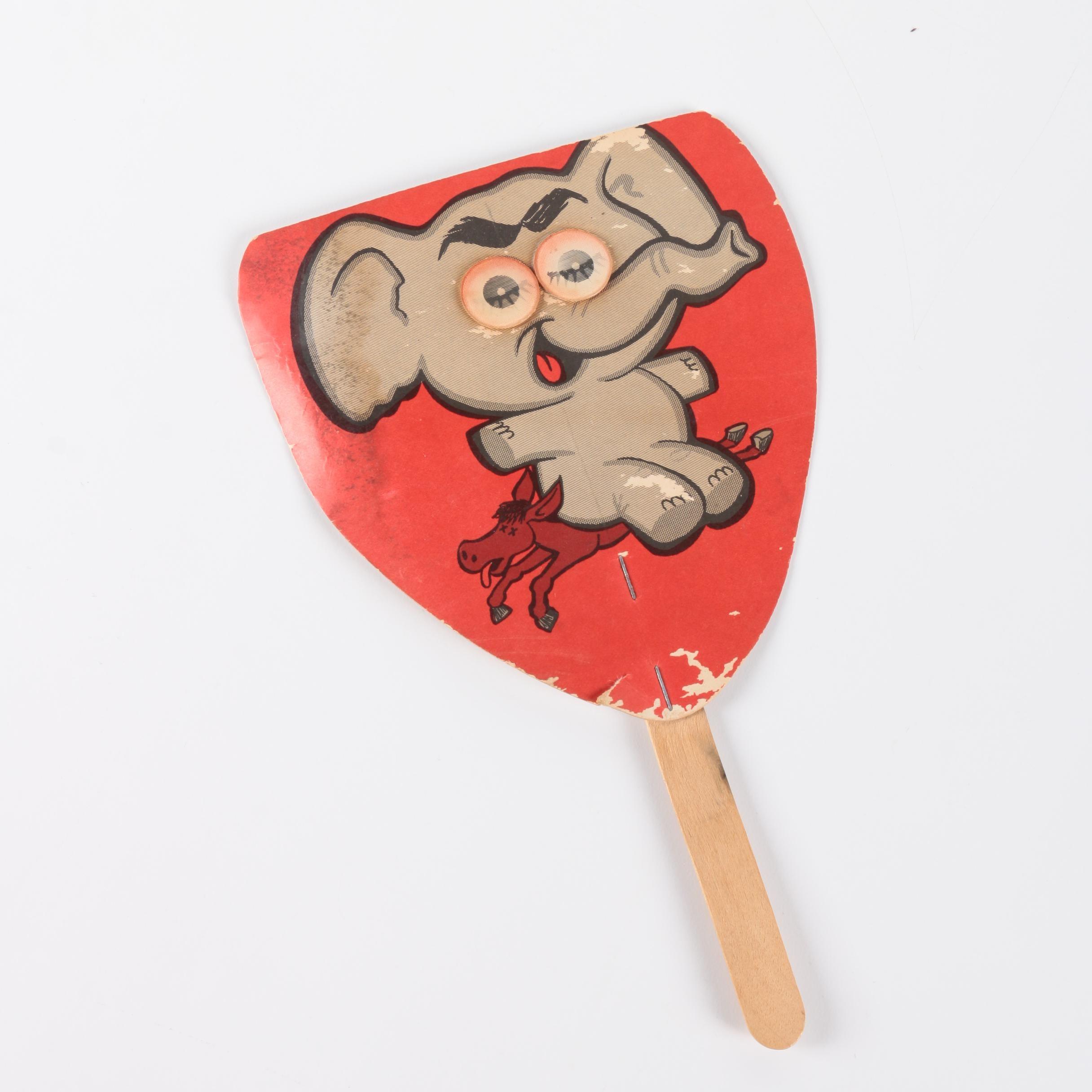 Barry Goldwater Fan Club Republican Elephant Paper Fan