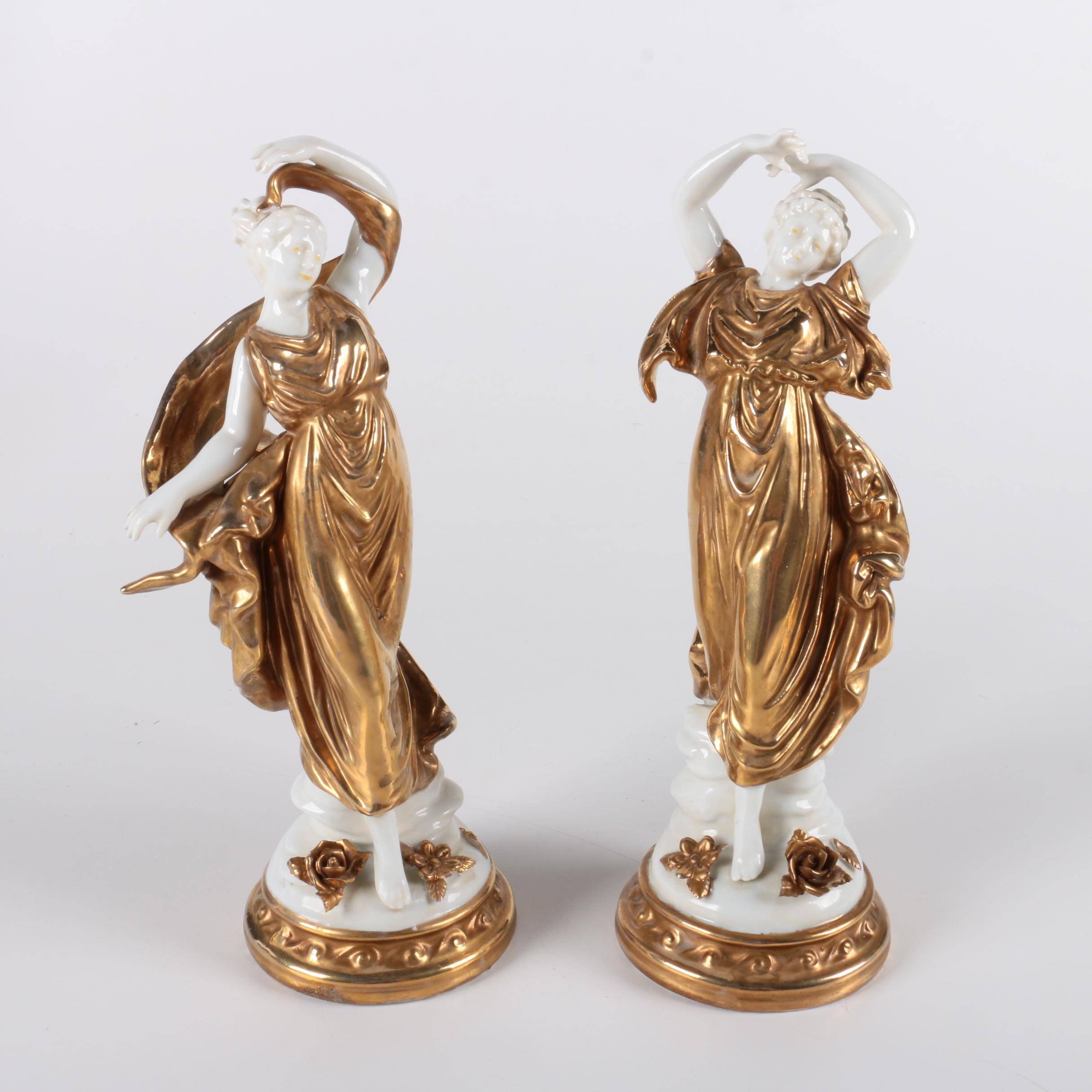 Pair of Porcelain Neo-Classical Figurines