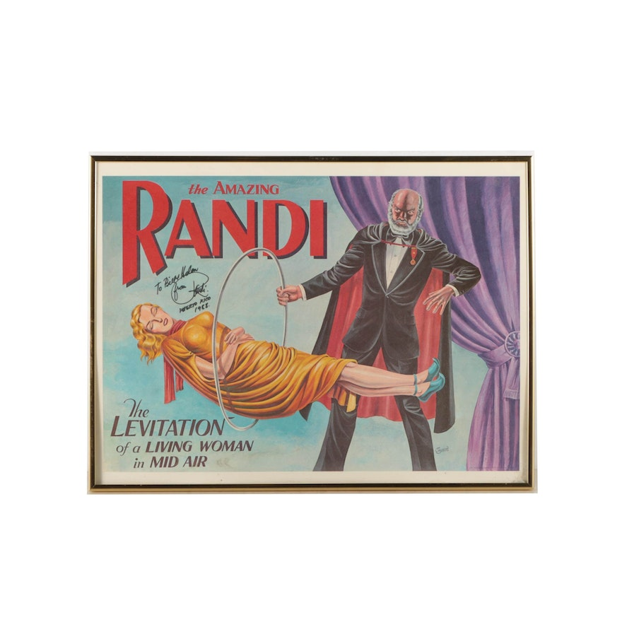 offset lithograph poster after jay disbrow for the amazing randi