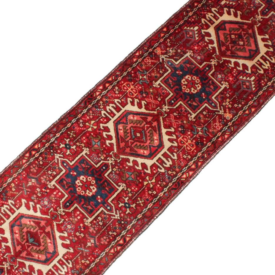 2' x 12' Semi-Antique Hand-Knotted Persian Karaja Runner