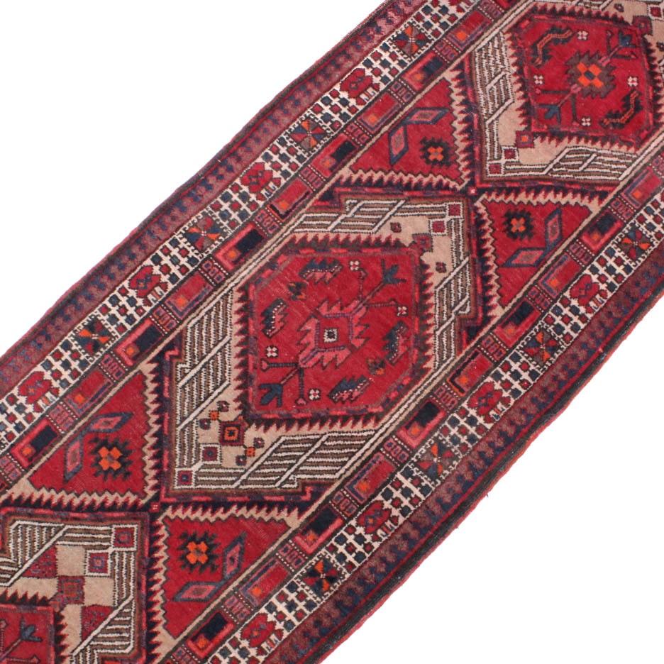3' x 11' Semi-Antique Hand-Knotted Persian Heriz Runner