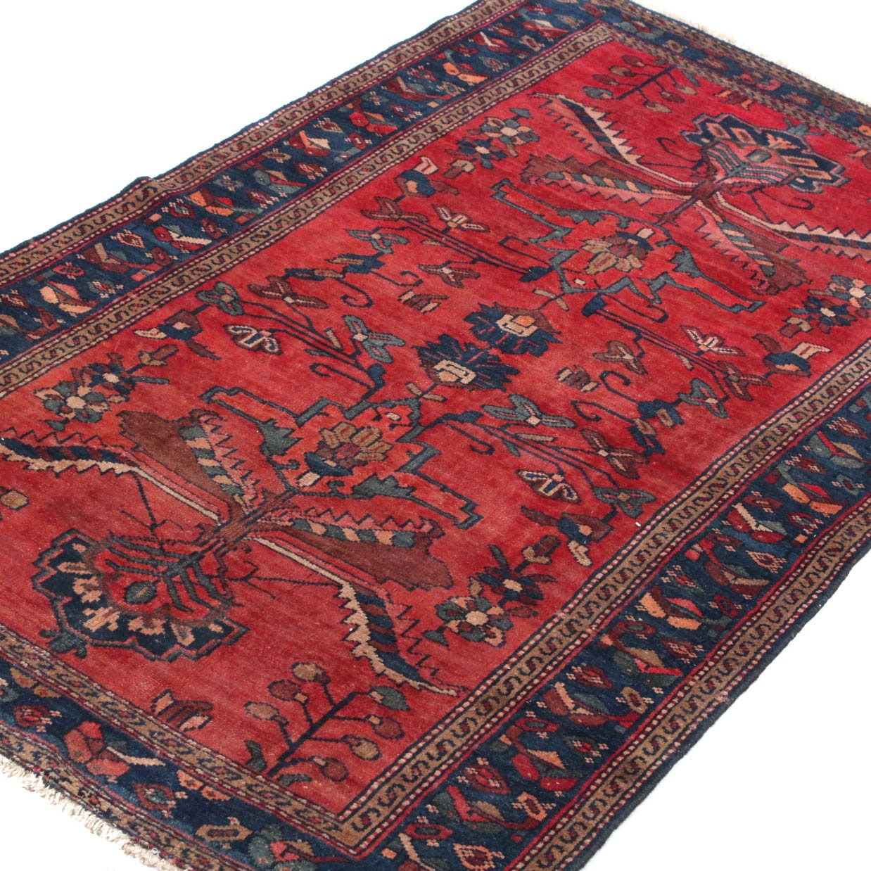 Tufted chinese wool floral accent rug ebth - Handmade Mcadoo Hook Rug Ebth