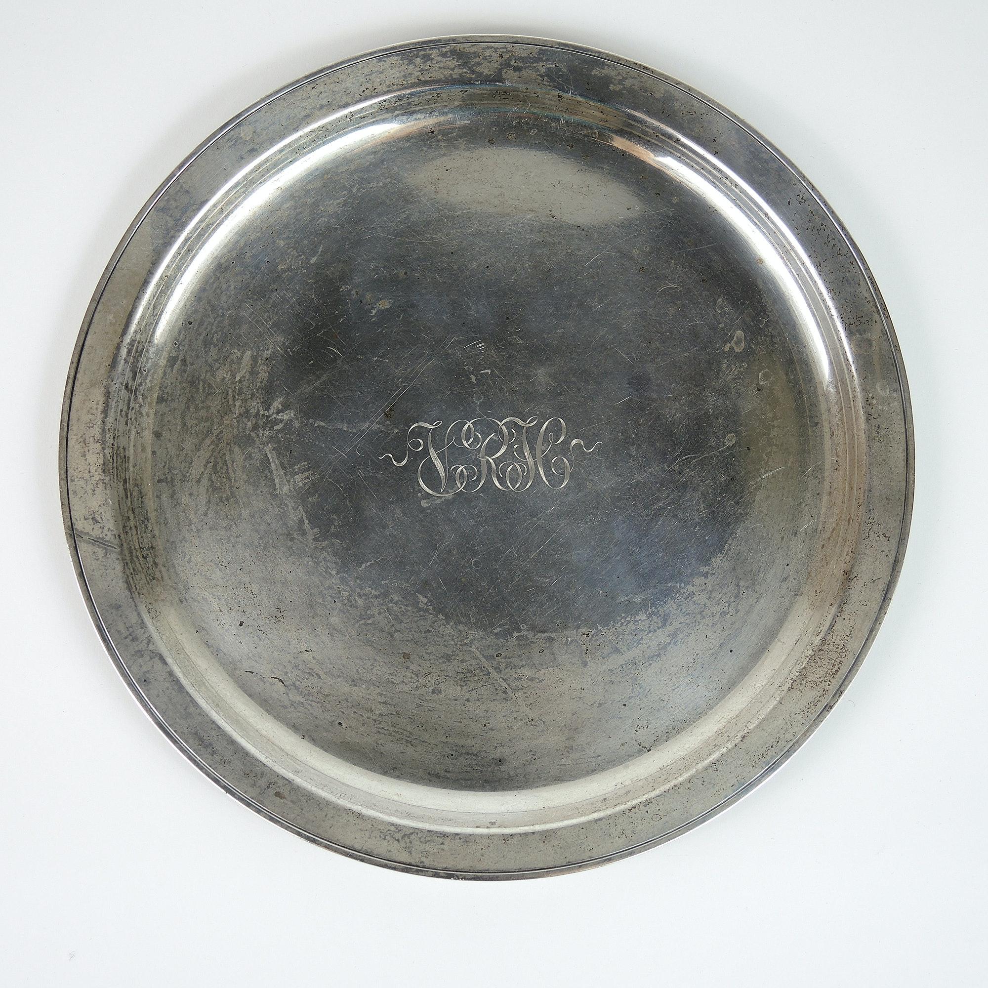 Lester H. Vaughan Sterling Silver Platter