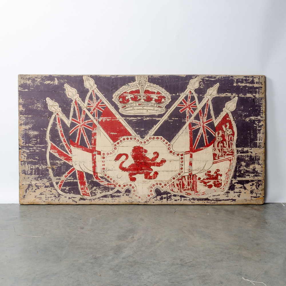 Rachel Ashwell Shabby Chic British Flags Painting on Wood