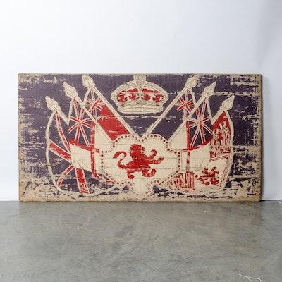 Rachel Ashwell Shabby Chic British Flags Painting on Wood