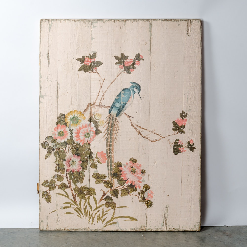 Rachel Ashwell Shabby Chic Bird Painting on Wood