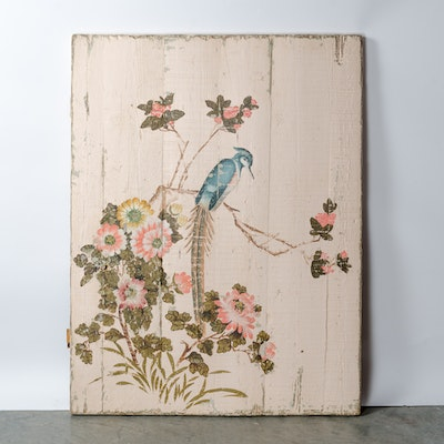 Rachel Ashwell Shabby Chic Bird Painting on Wood