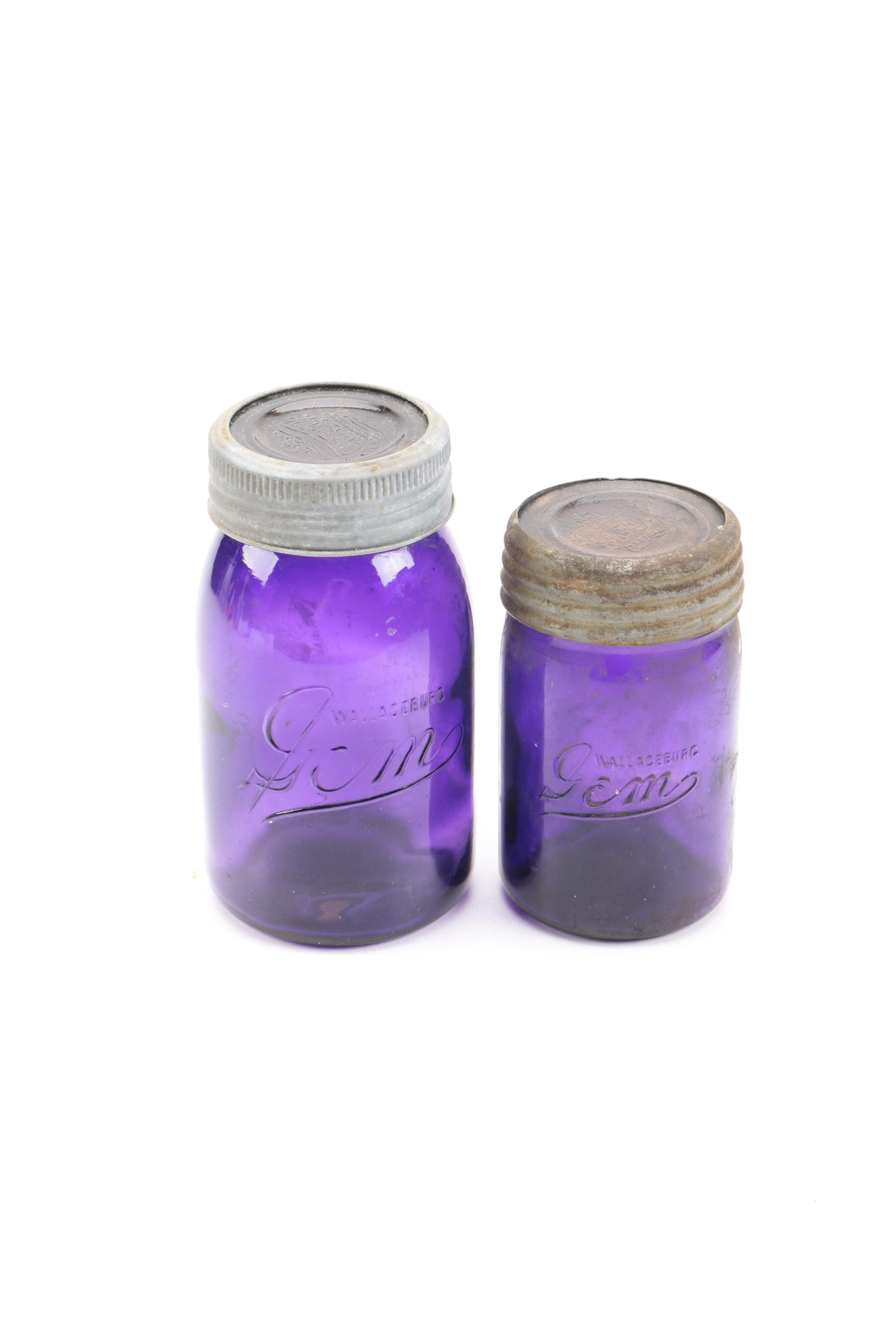 Purple Glass Wallaceburg Gem Jars