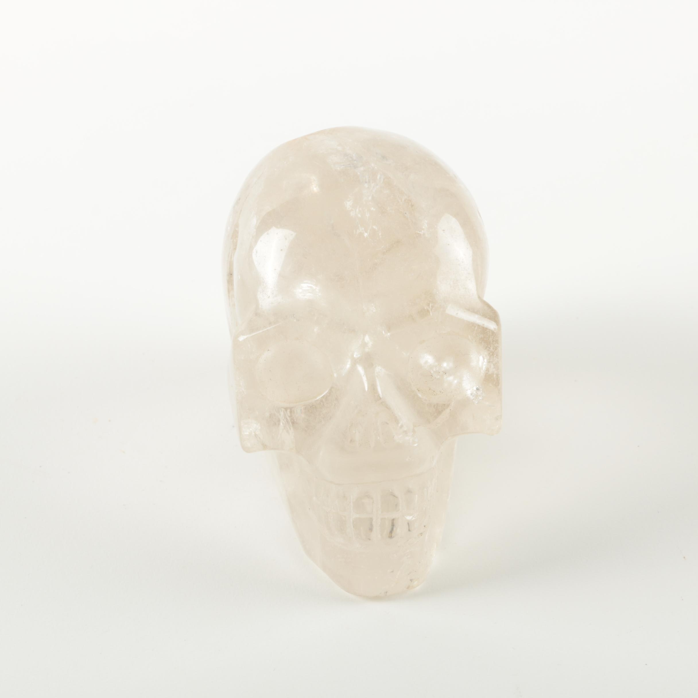 Carved Quartz Skull