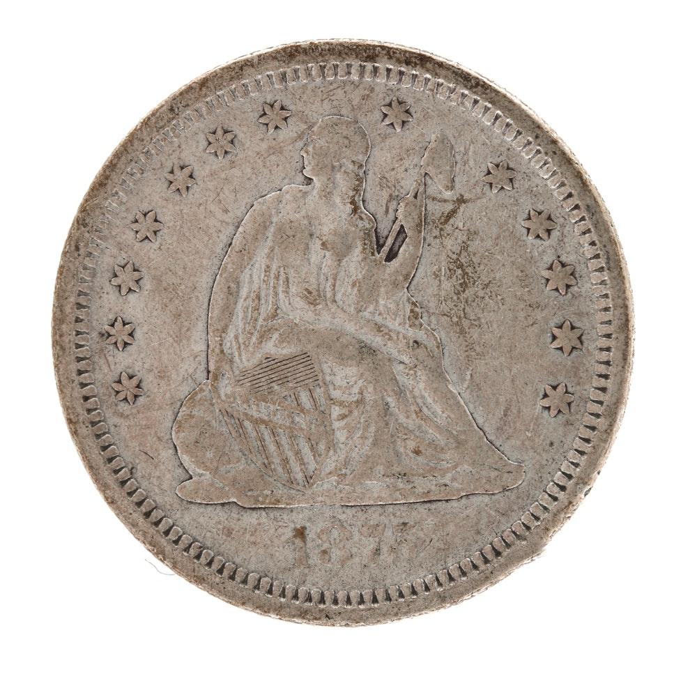 1875 S Seated Liberty Quarter