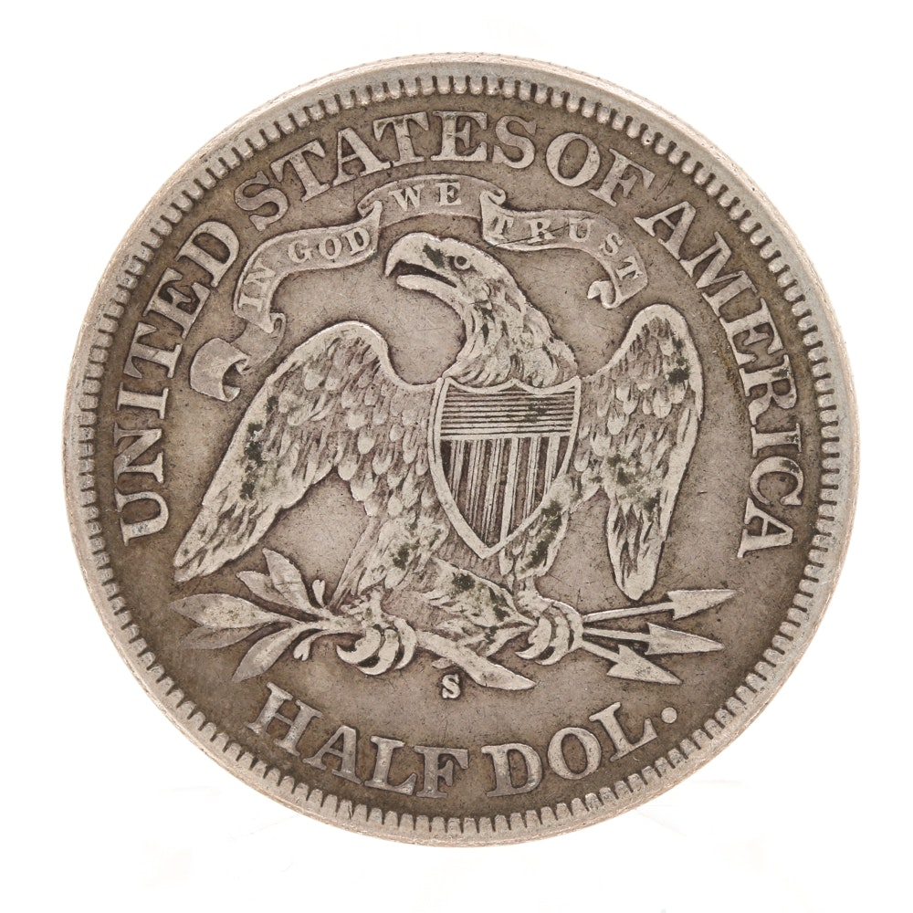 1876 S Seated Liberty Half-Dollar