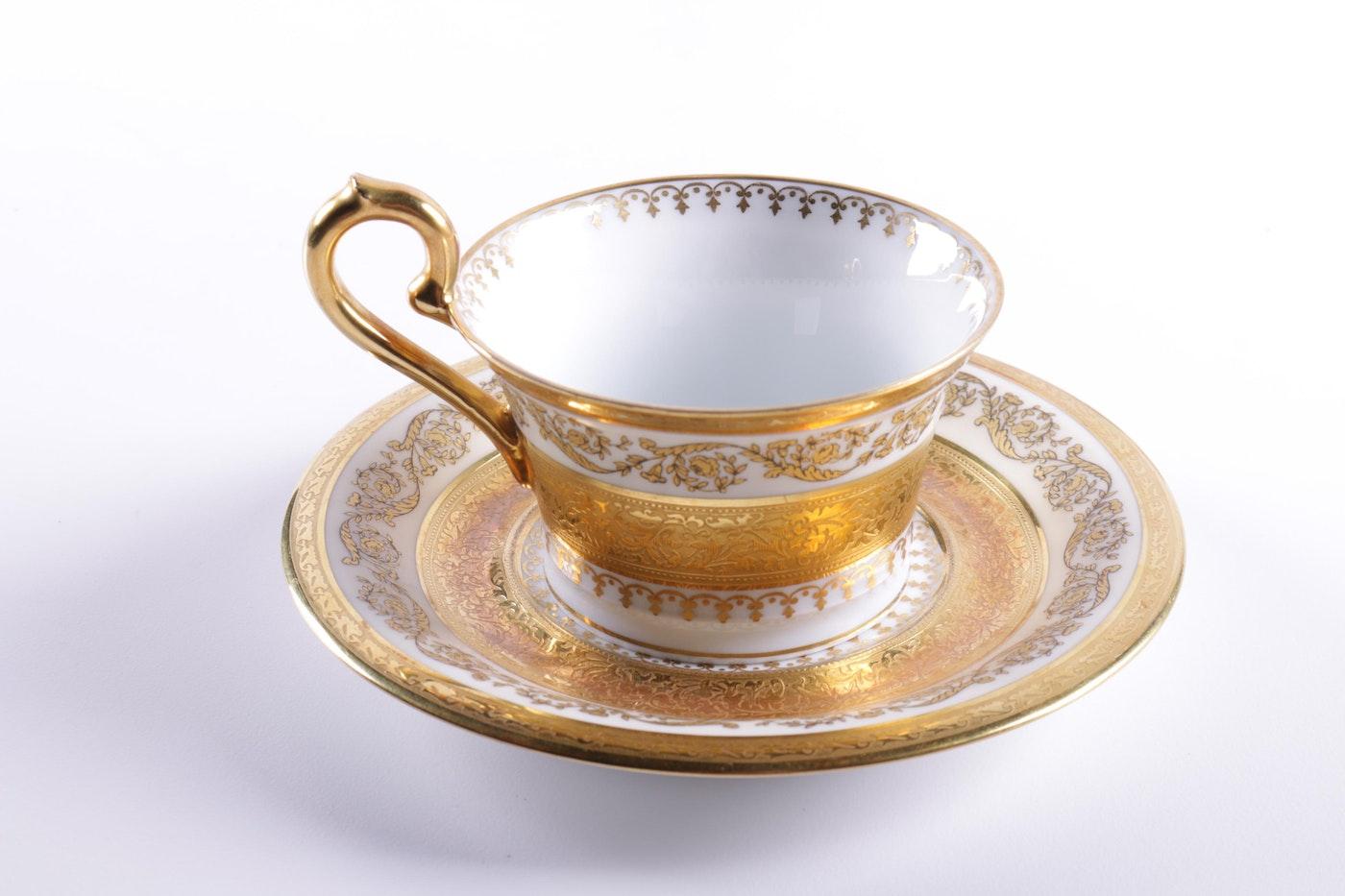 ceralene limoges imperiale porcelain china set ebth. Black Bedroom Furniture Sets. Home Design Ideas
