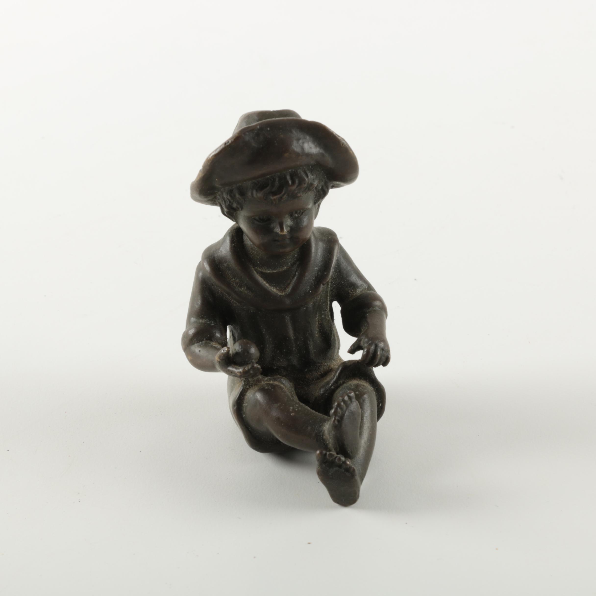 Bronze Child Figurine