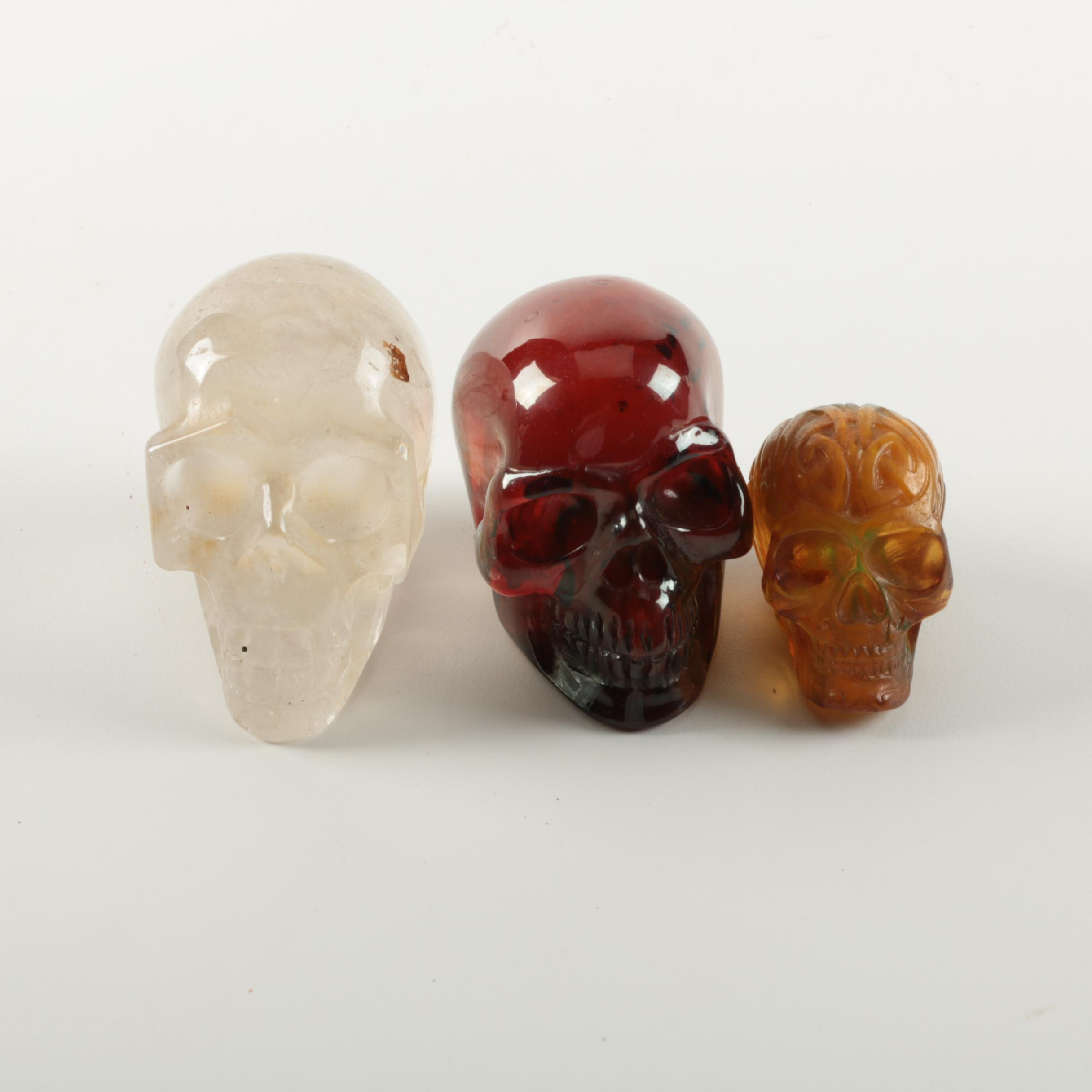 Quartz and Plastic Skulls