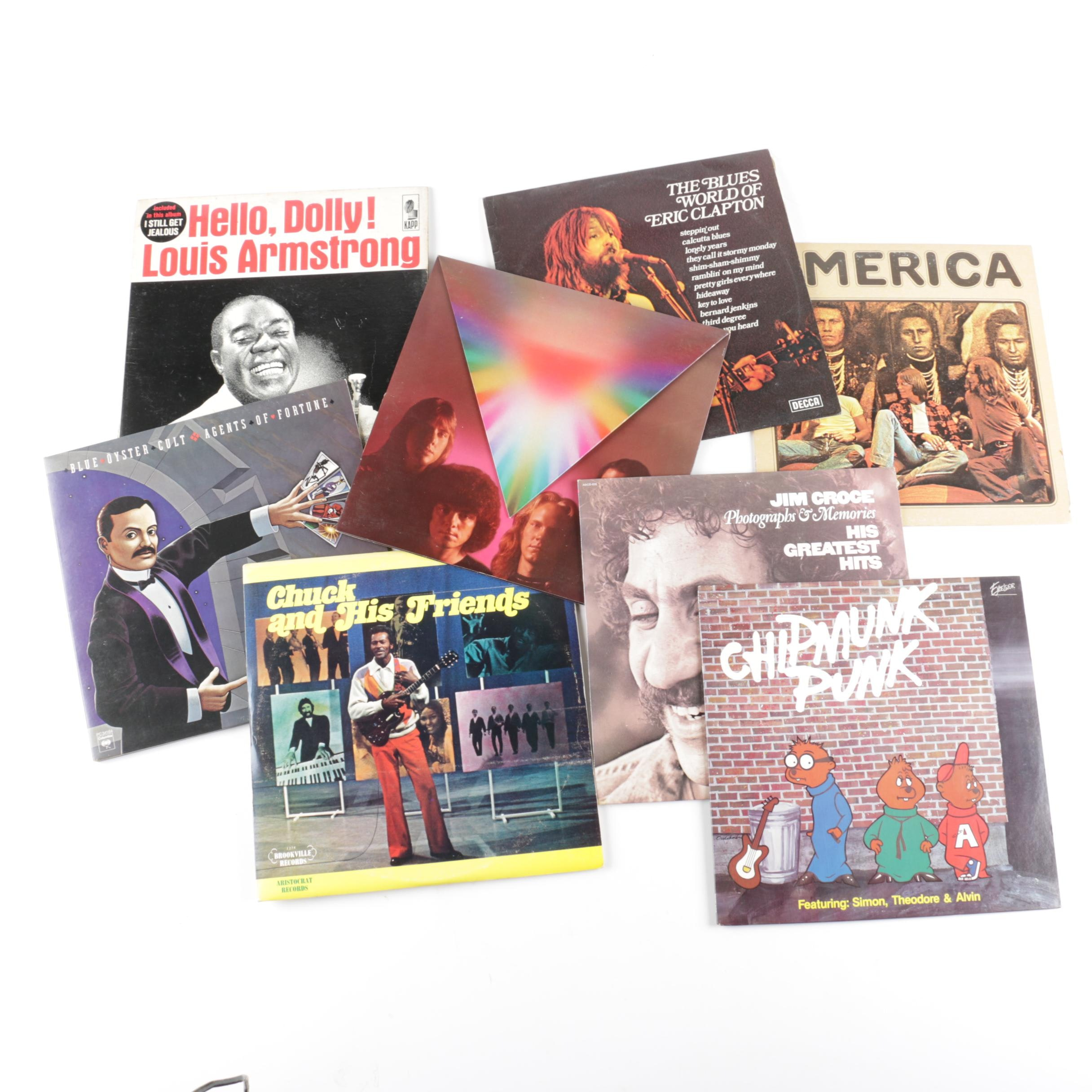 Chuck Berry, Eric Clapton and Other Folk, Jazz, Pop and Rock LPs