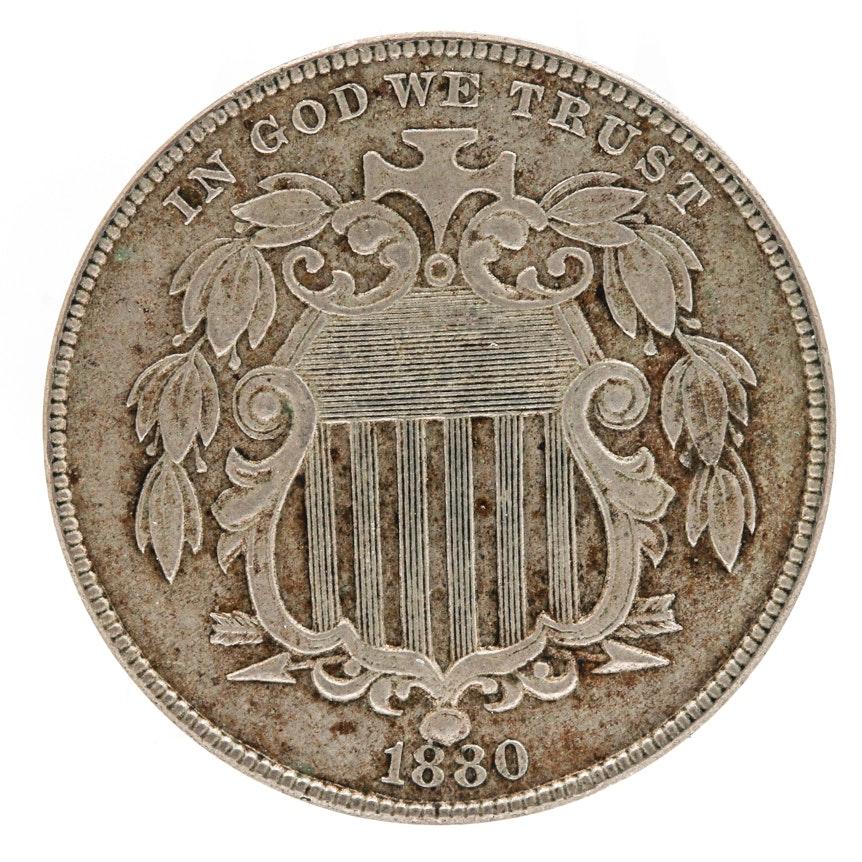 Key Date 1880 U.S. Shield Nickel