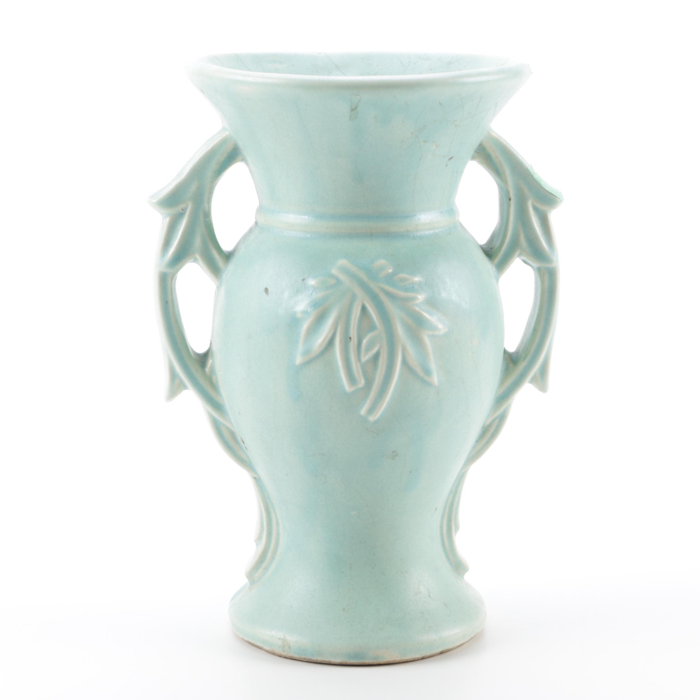 Vintage McCoy Double Handled Vase